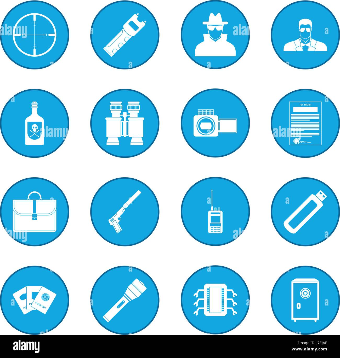 Spy icon blue - Stock Vector