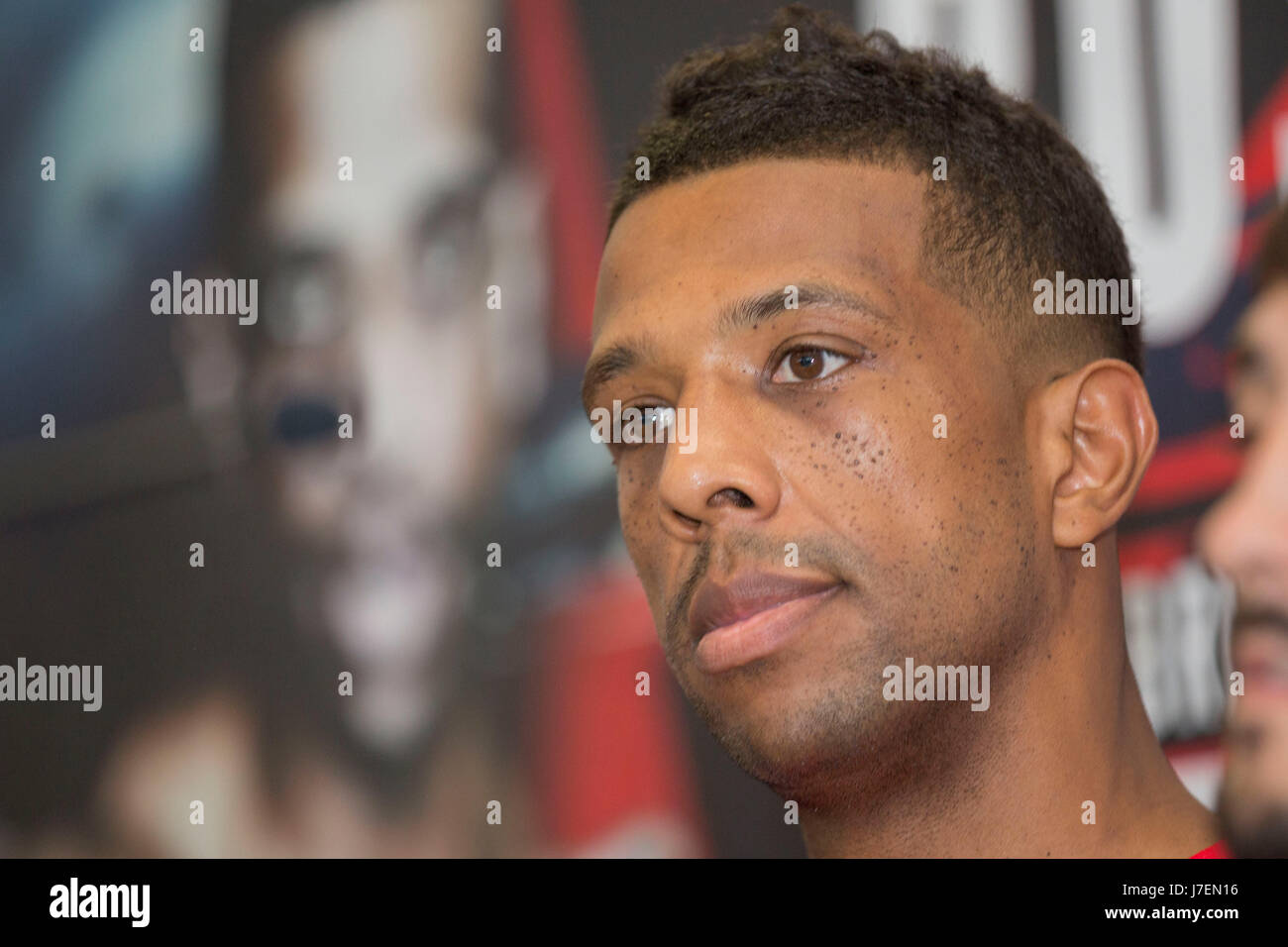 Cardiff Wales, UK, May 24th 2017. Craig Kennedy during a press conference at the Clayton Hotel ahead his British - Stock Image