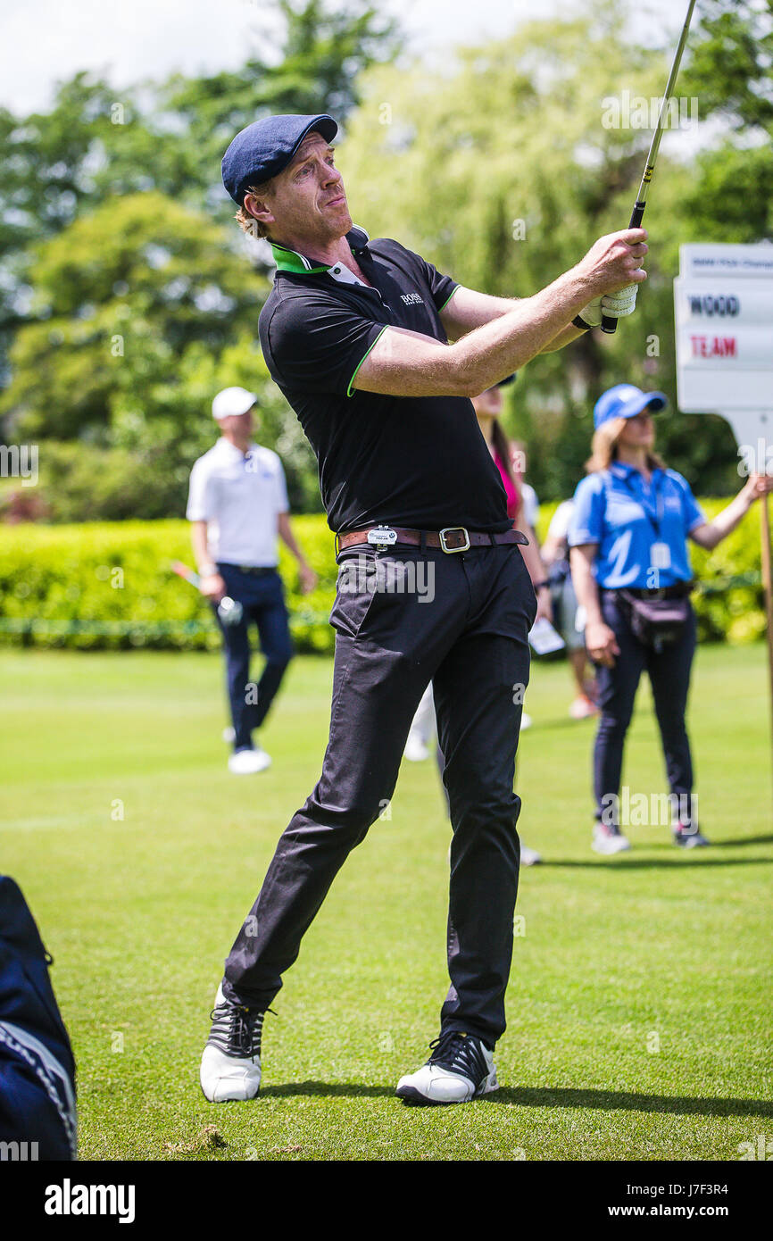 Wentworth, UK. 25th May, 2017. Actor Damian Lewis star of Homeland and Wolf Hall playing in the Annual Pro Am at - Stock Image