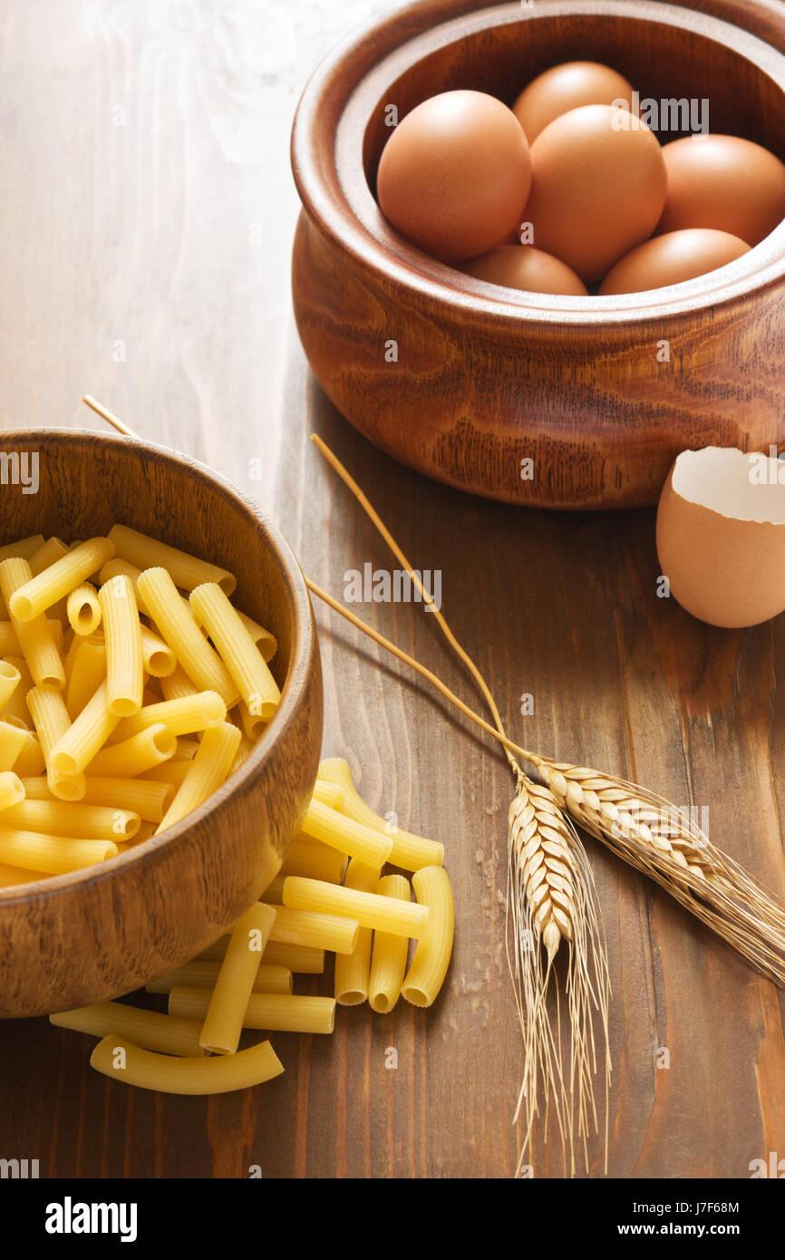 food aliment wood italian egg ingredients pasta healthy food aliment beautiful Stock Photo
