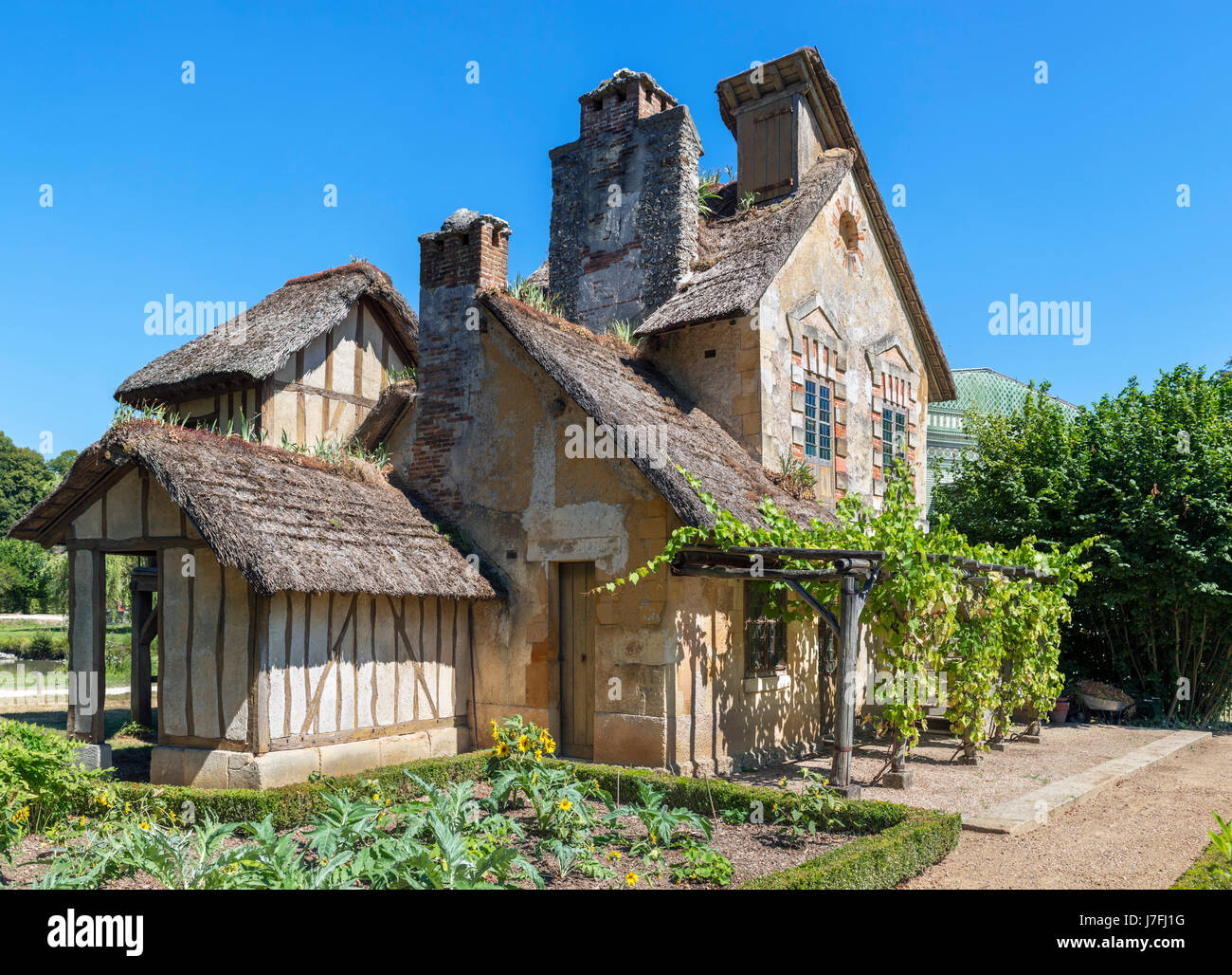 Moulin (Watermill) in the Hameau de la Reine (Queen's Hamlet), Chateau de Versailles, Domain de Versailles, - Stock Image