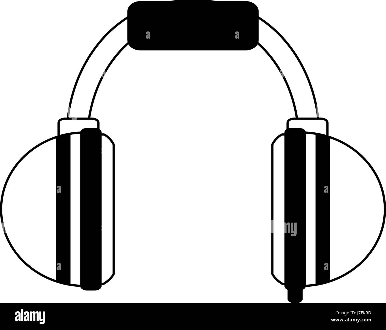 two tone headphones icon image  - Stock Image