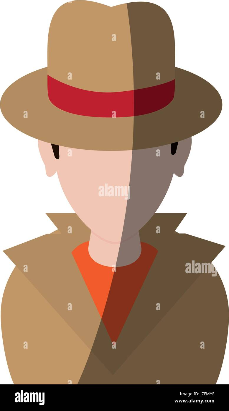 spy or investigator avatar icon image  - Stock Image