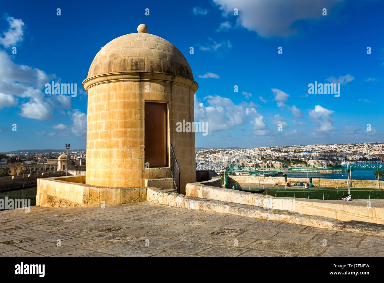 Watch Tower in Hastings Garden in Valletta, Malta Stock Photo