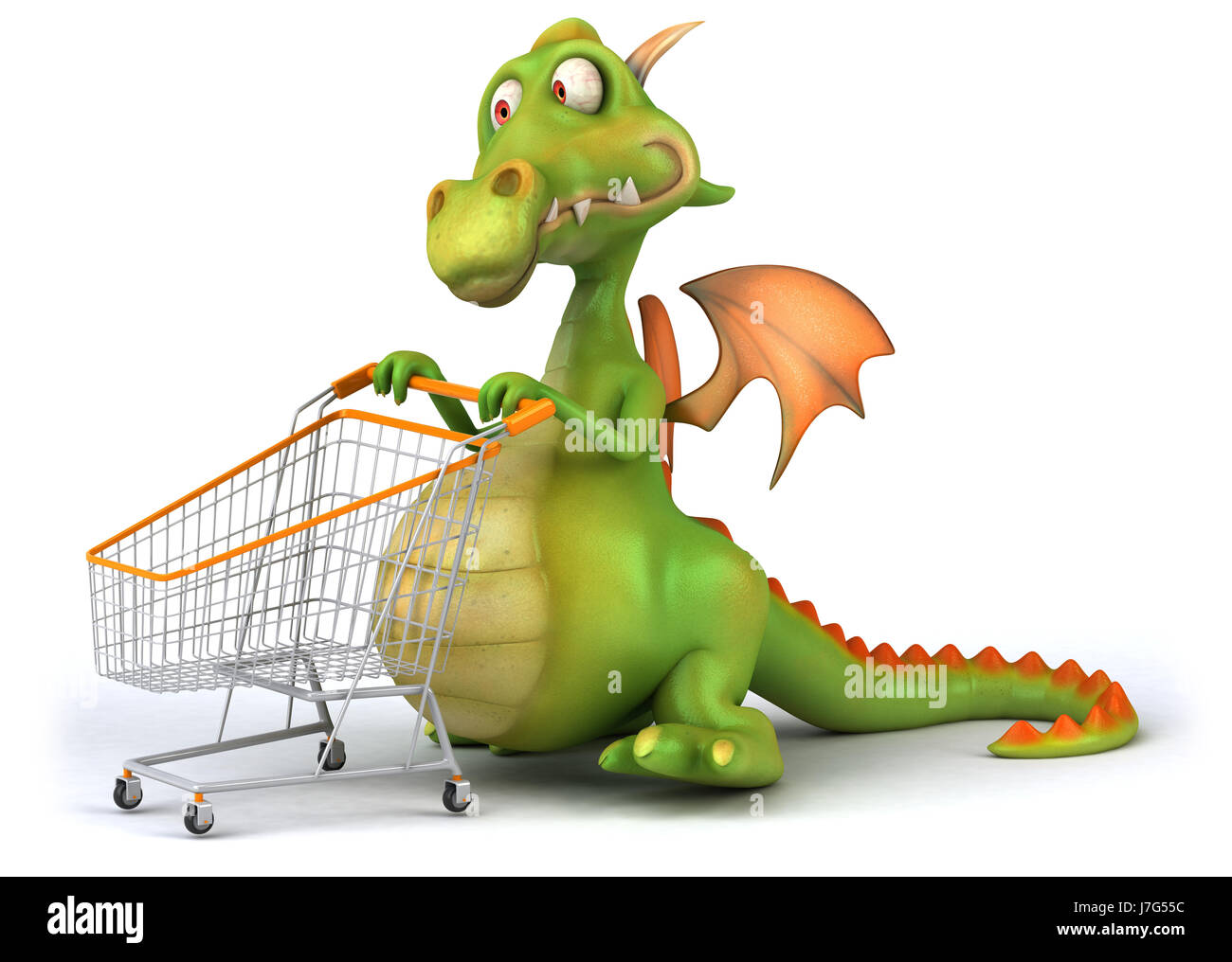 art animal dragon chinese character asian cartoon laugh laughs laughing twit - Stock Image