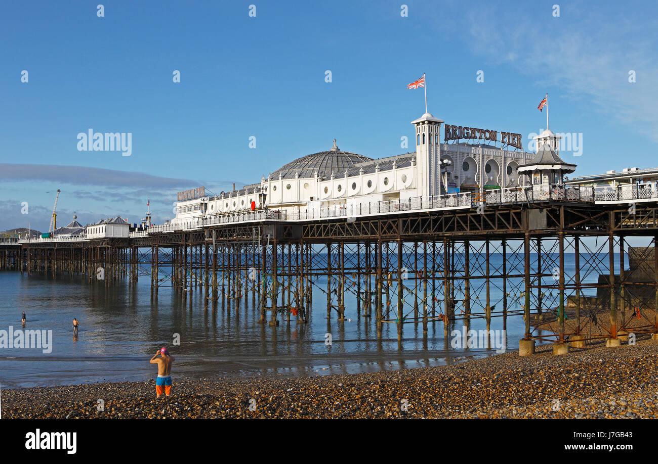 Brighton Palace Pier, Brighton, East Sussex, England, United Kingdom - Stock Image