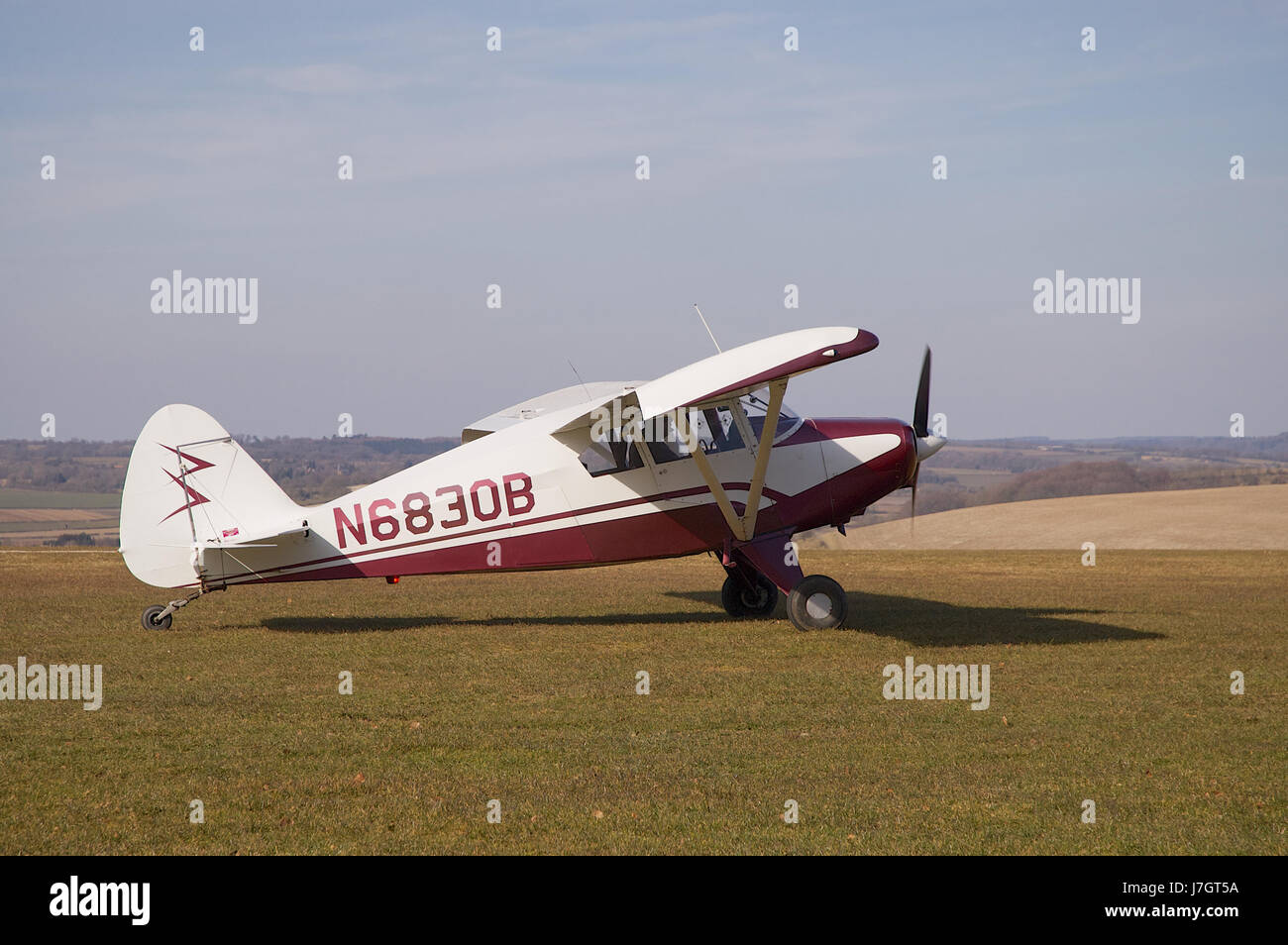 Piper PA-22-150 Pacer Light Aircraft at Compton Abbas Airfield near