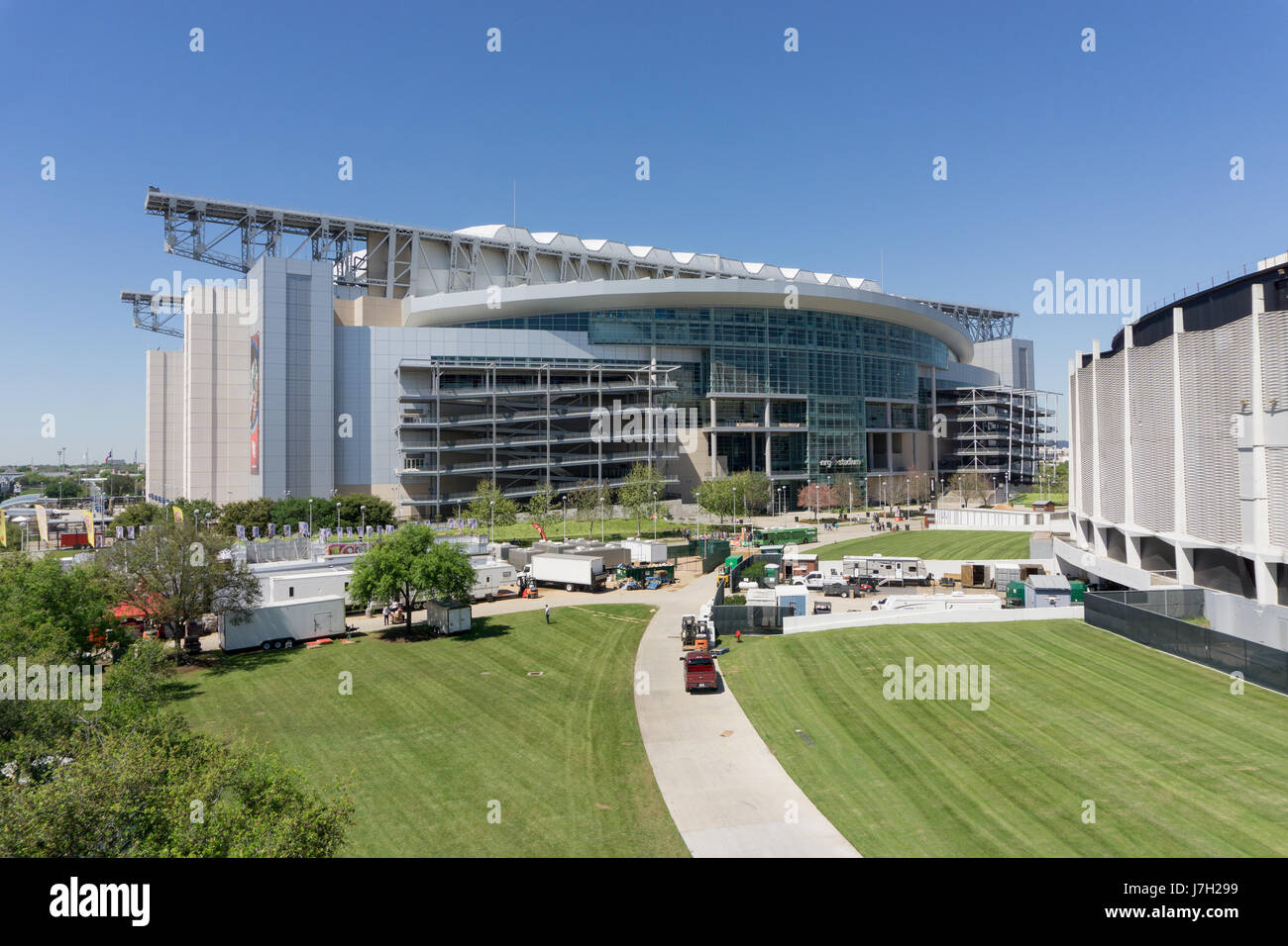 NRG stadium from above Stock Photo