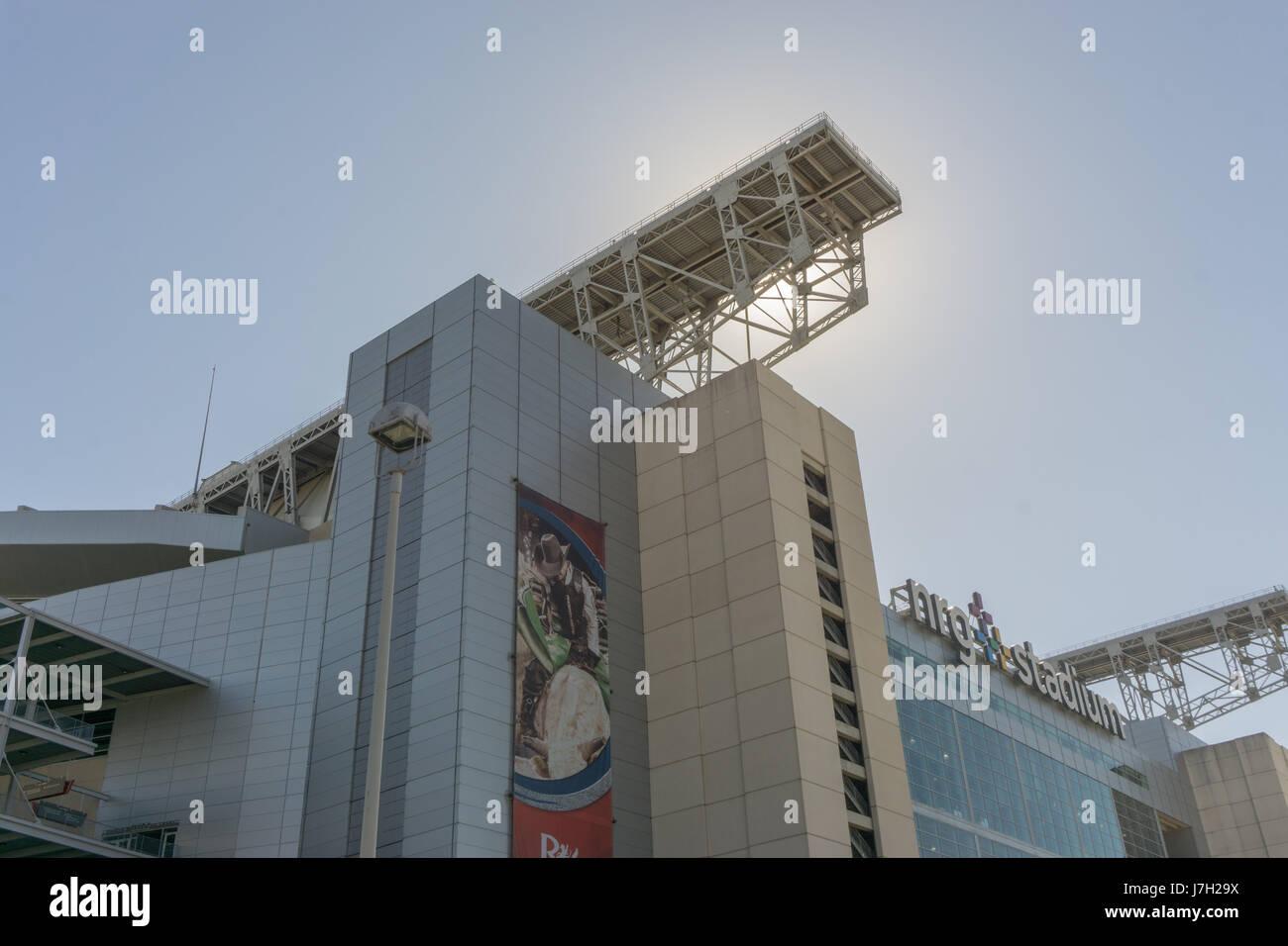 Sun shines over NRG stadium Stock Photo