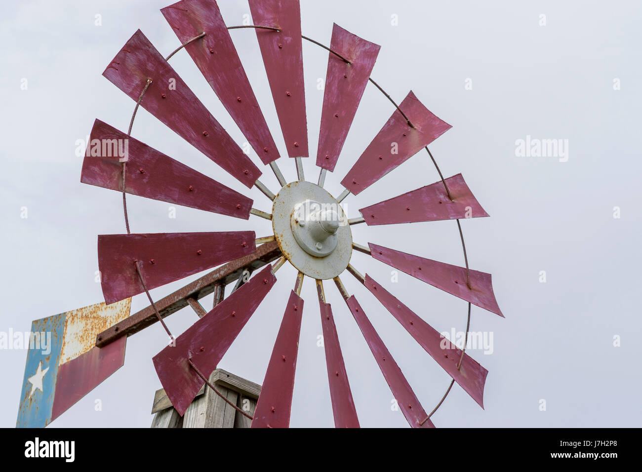 Texas themed windmil Stock Photo