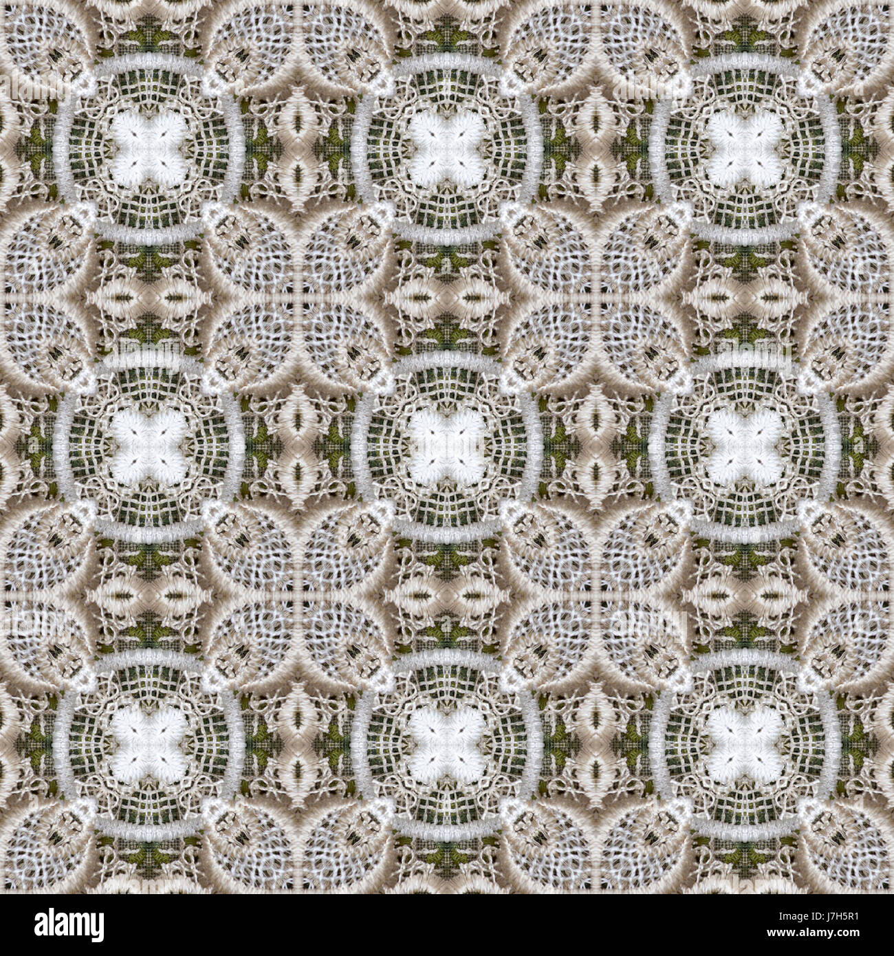Seamlessly repeating lace pattern, digital collage from crocheted ...