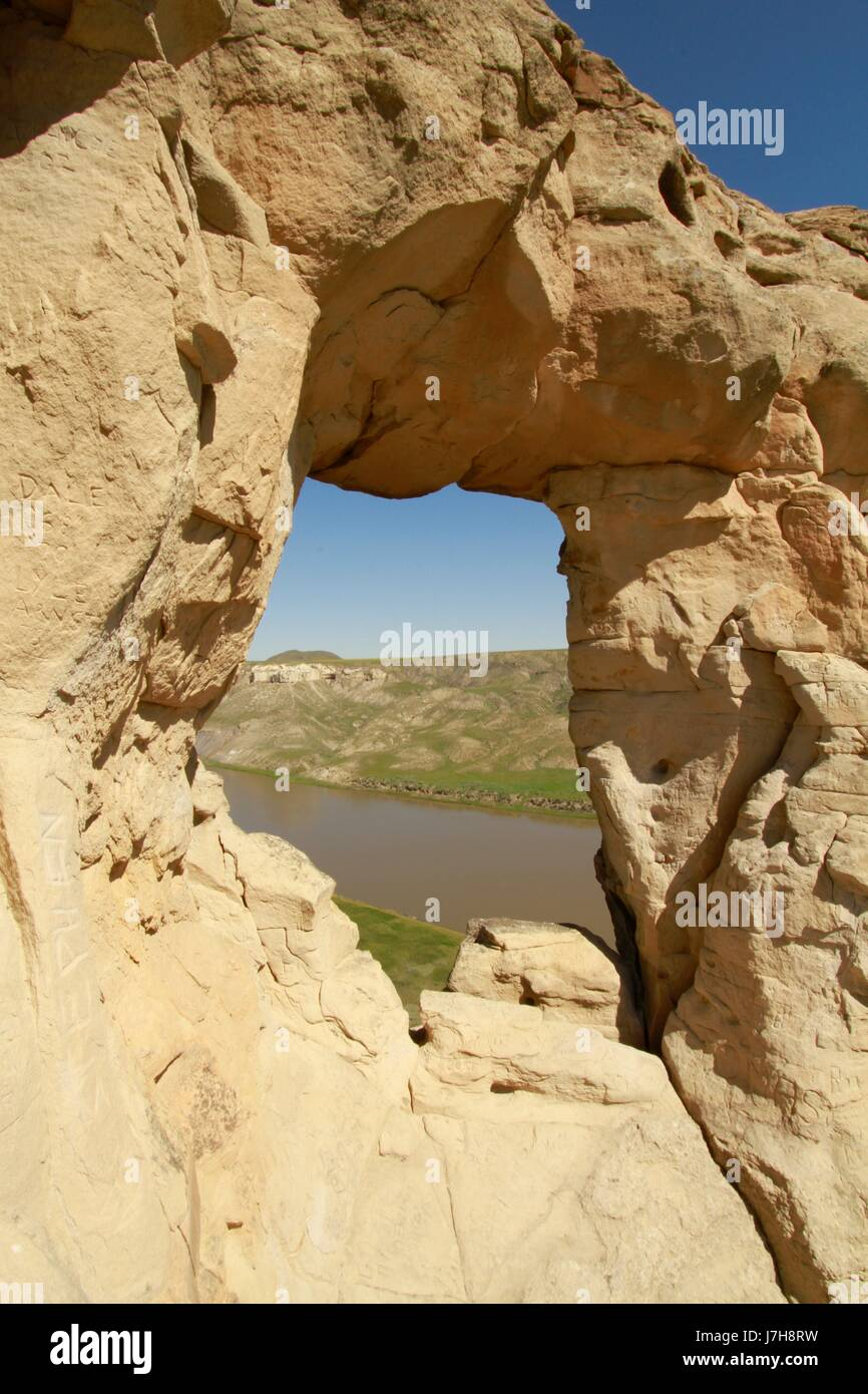 Hole in the Wall, Missouri River Breaks National Monument, Montana - Stock Image