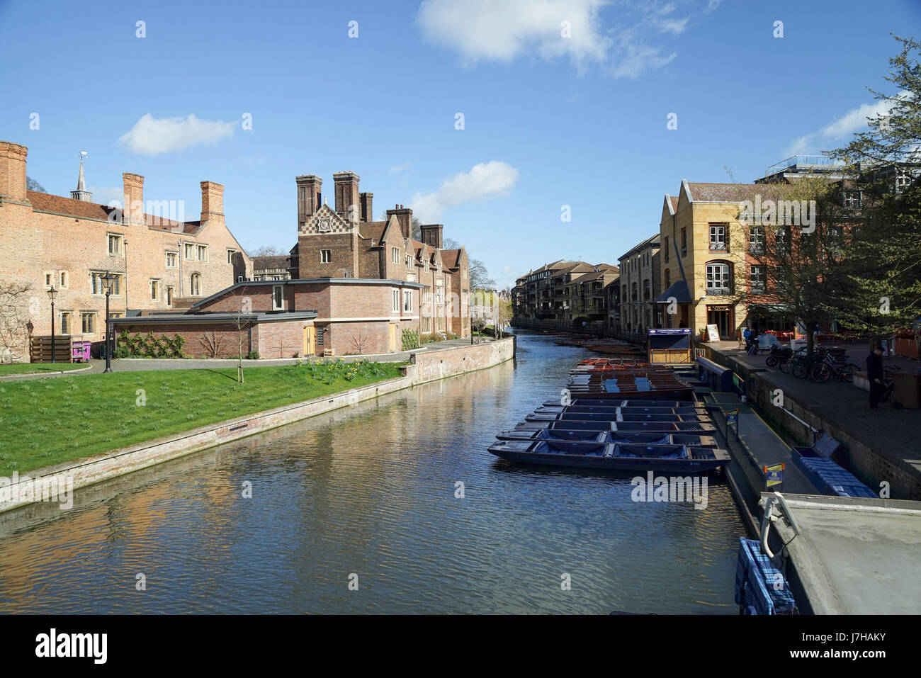 Ramsay Hall, Magdalene College, River Cam, Cambridge, UK -1 - Stock Image