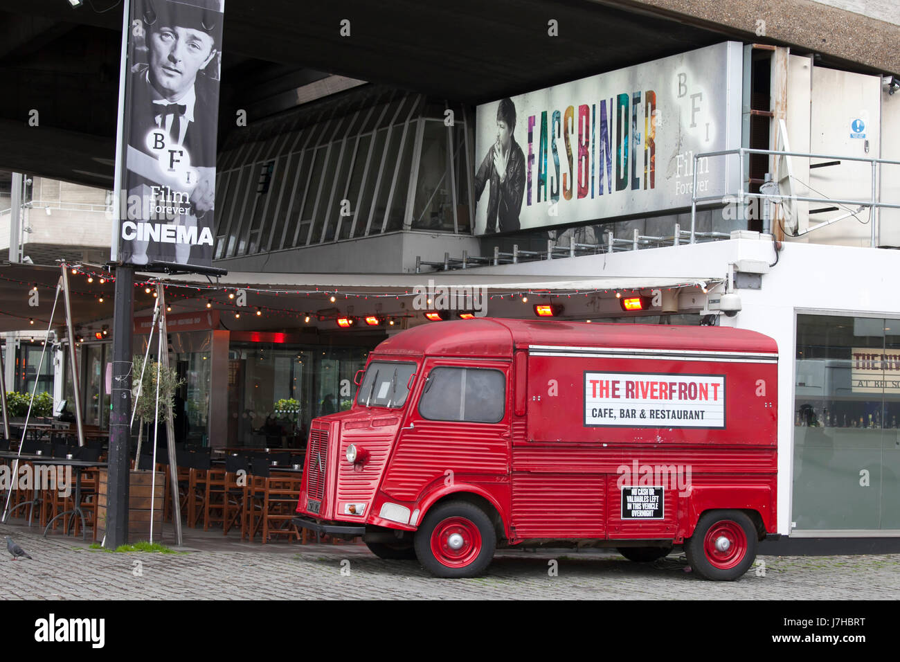 LONDON, ENGLAND - March 12, 2017 Riverfront Bar at the British Film Institute - BFI, South Bank, London, England, - Stock Image