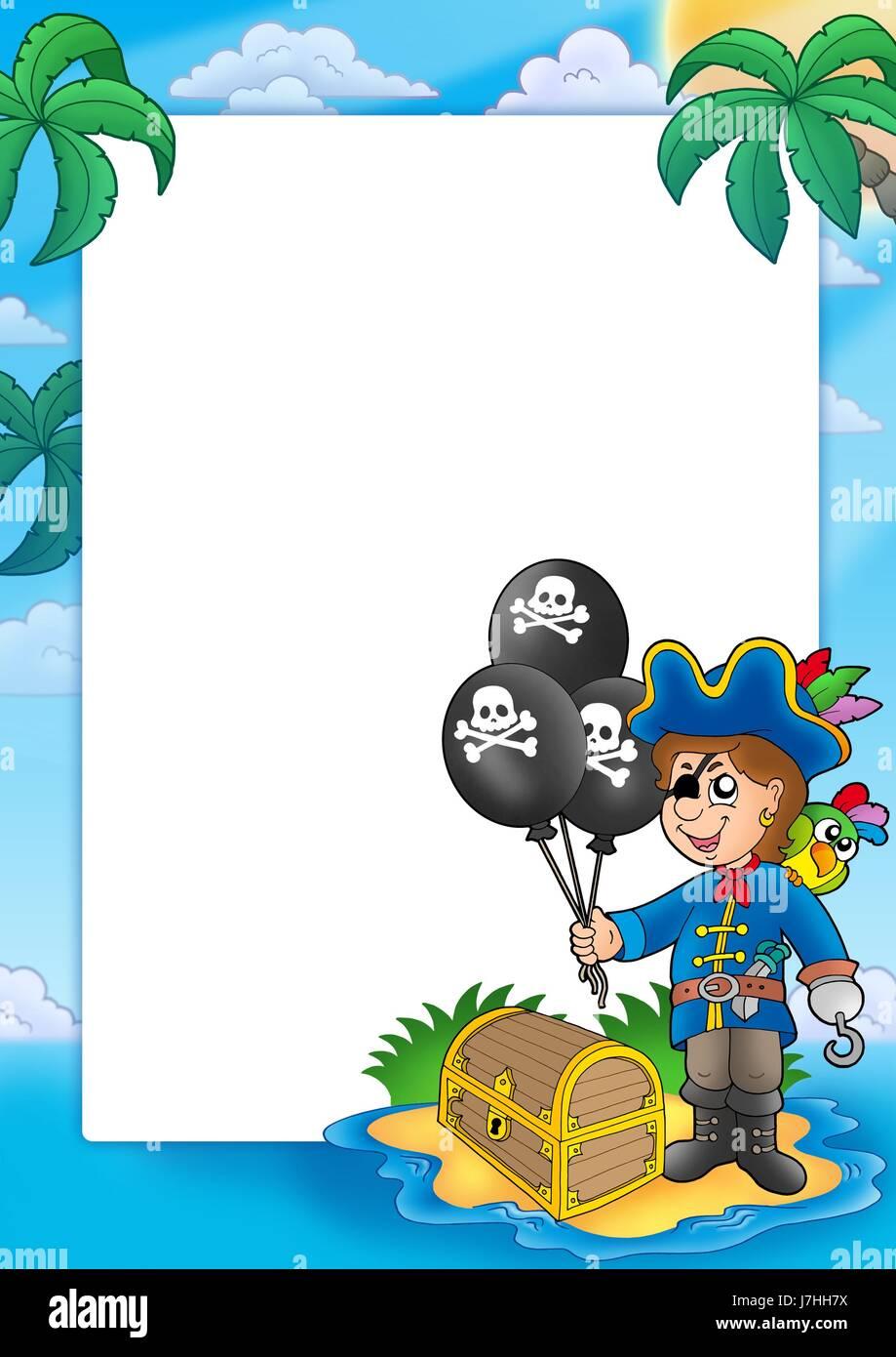 blank european caucasian uninhabited pirates pirate buccaneer frame ...