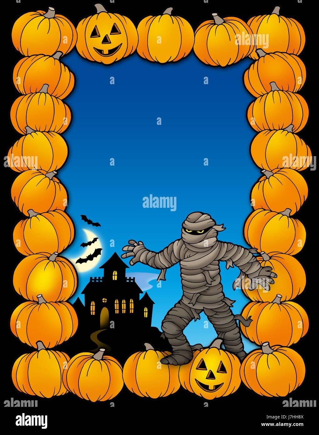 halloween seasons pumpkin season frame seasonal framework fall