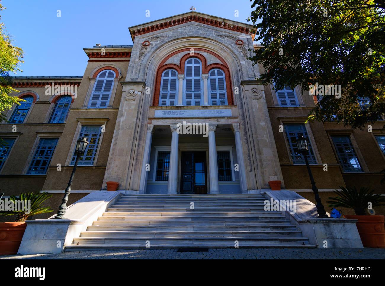 Halki Seminary, Theological School of Halki, Heybeliada Ruhban Okulu, Istanbul, Turkey - Stock Image