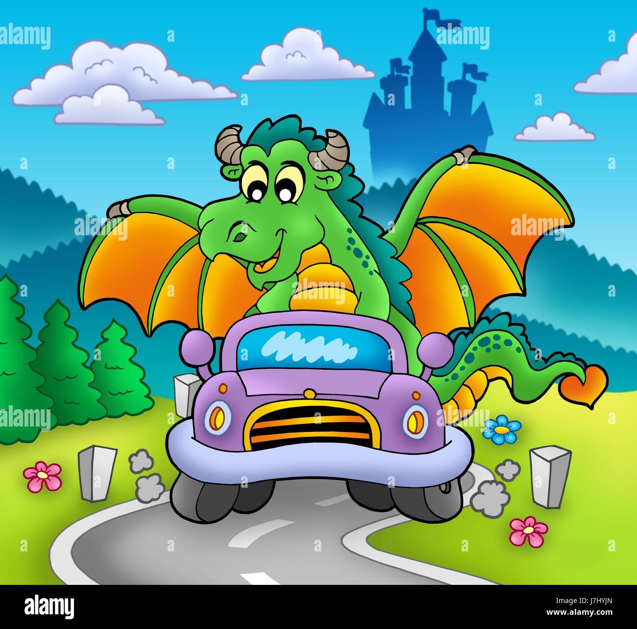 tree car automobile vehicle means of travel motor vehicle dragon