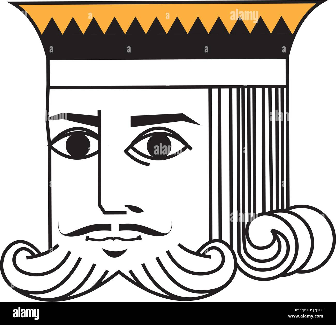 Face King Of Playing Poker Card Character Stock Vector Image Art Alamy