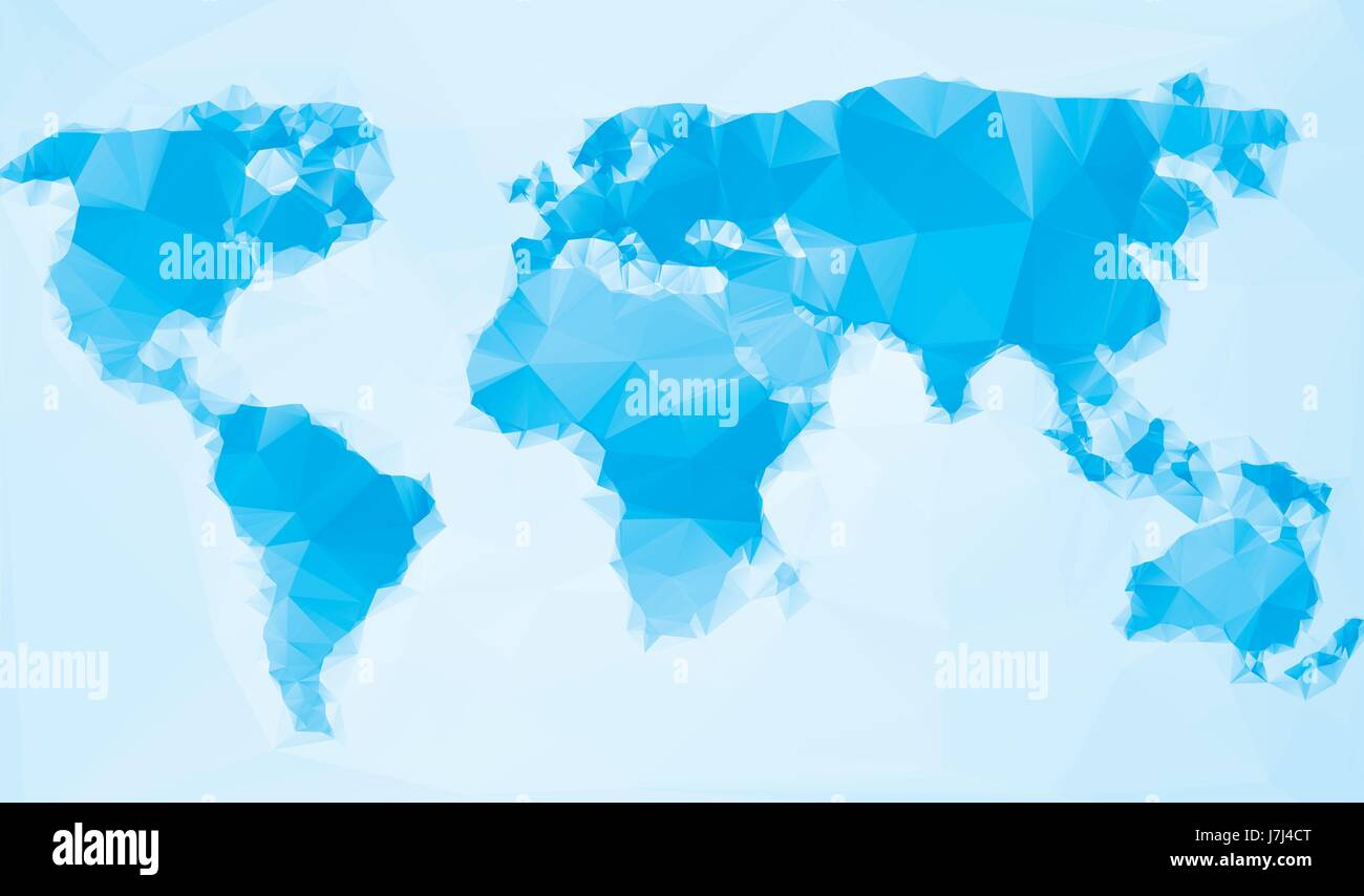 Triangle world map vector illustration stylize world map triangle world map vector illustration stylize world map technology blue concept gumiabroncs Image collections