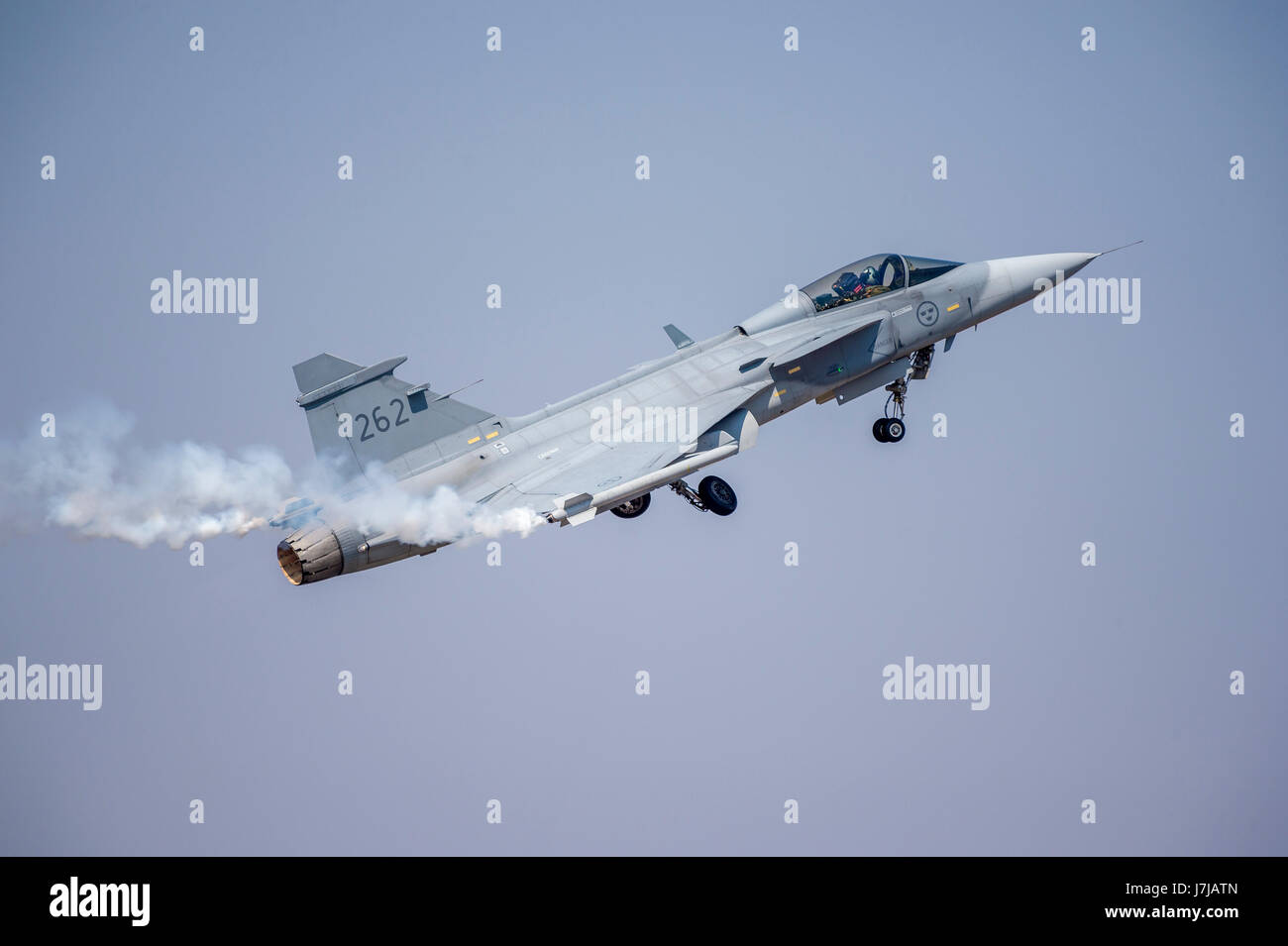 Saab JAS 39 Gripen multirole fighter aircraft - Stock Image