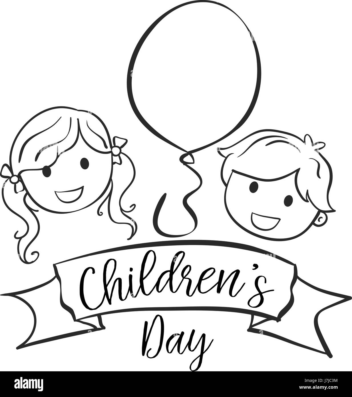easy drawings of childrens day