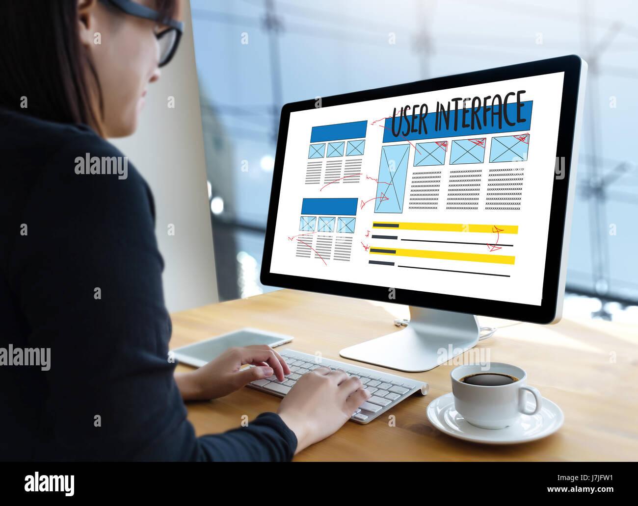 USER INTERFACE Global Address Browser Internet Website Design Stock
