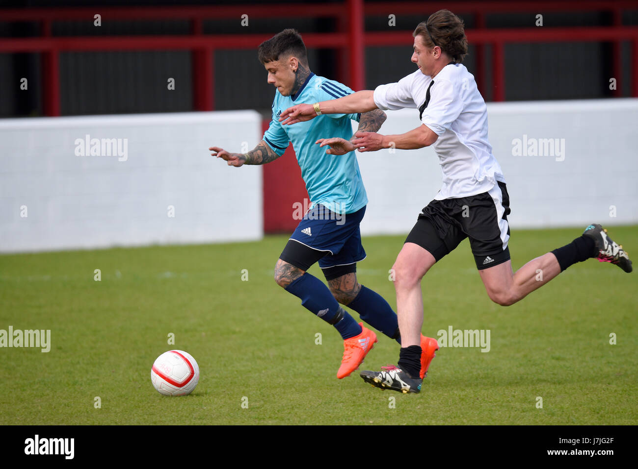 Chet Johnson playing in a charity football match in Dagenham. Space for copy - Stock Image