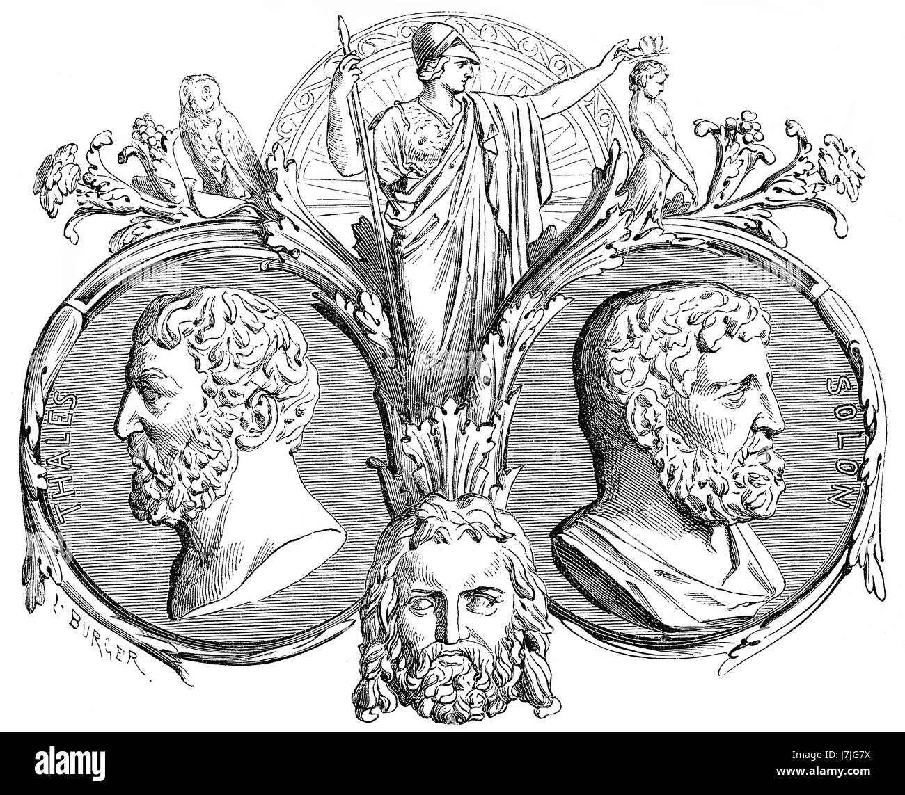 Solon and Thales of Miletus, part of the Seven Sages of Ancient Greece - Stock Image