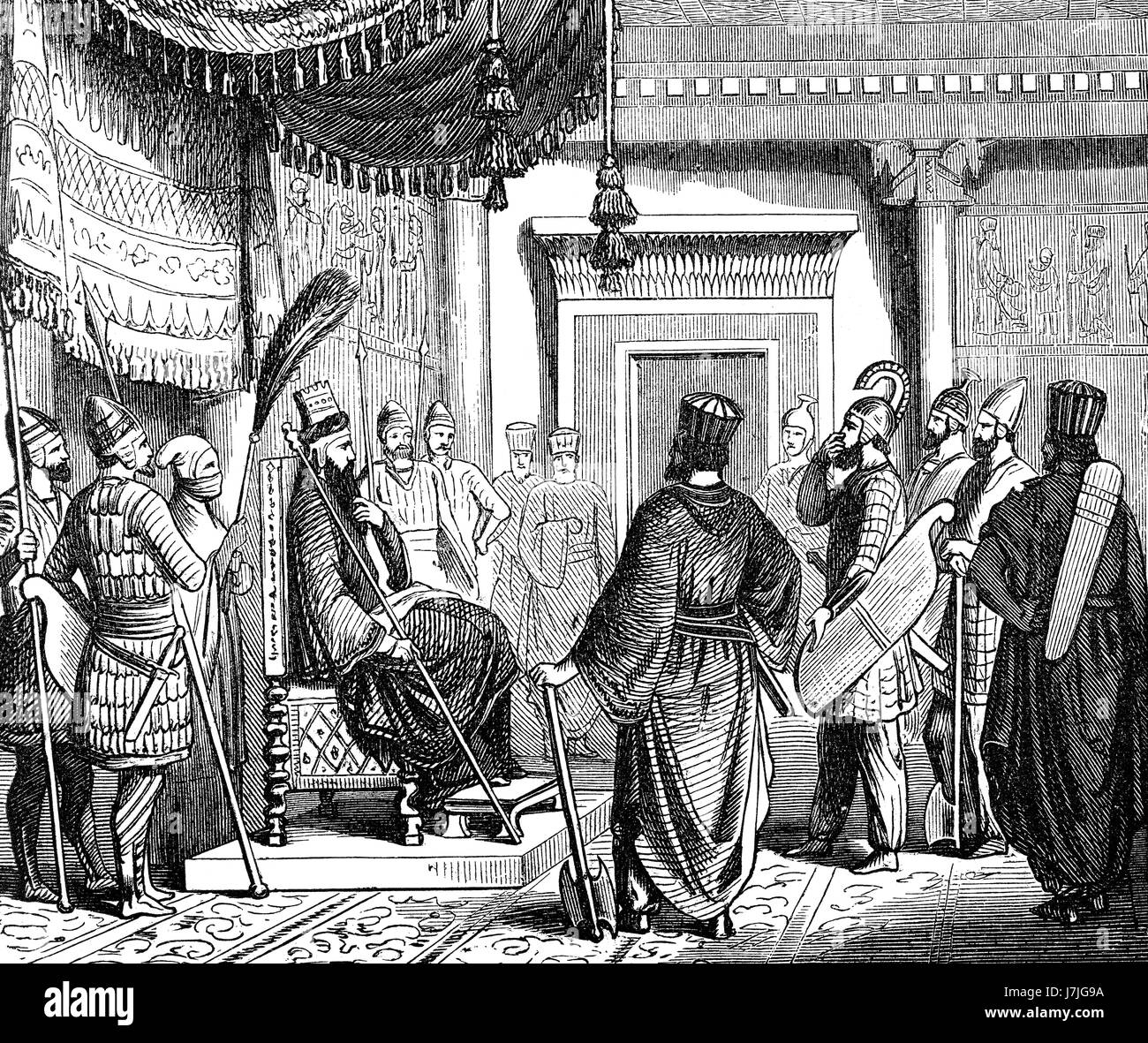 Cyrus the Great, king of the Persian Achaemenid Empire - Stock Image