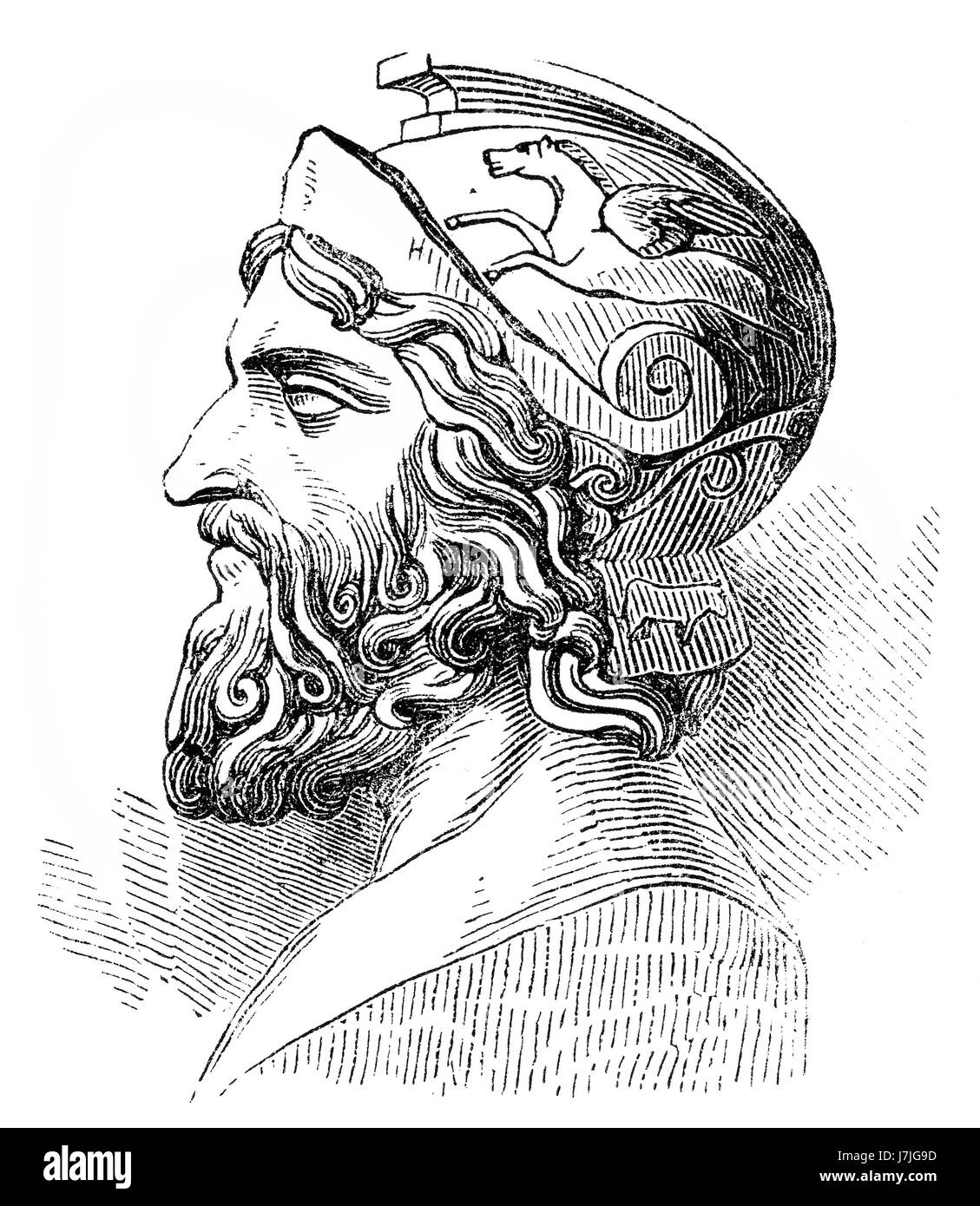 Miltiades the Younger, c. 550 – 489 BC, an Athenian statesman, Ancient Greece - Stock Image