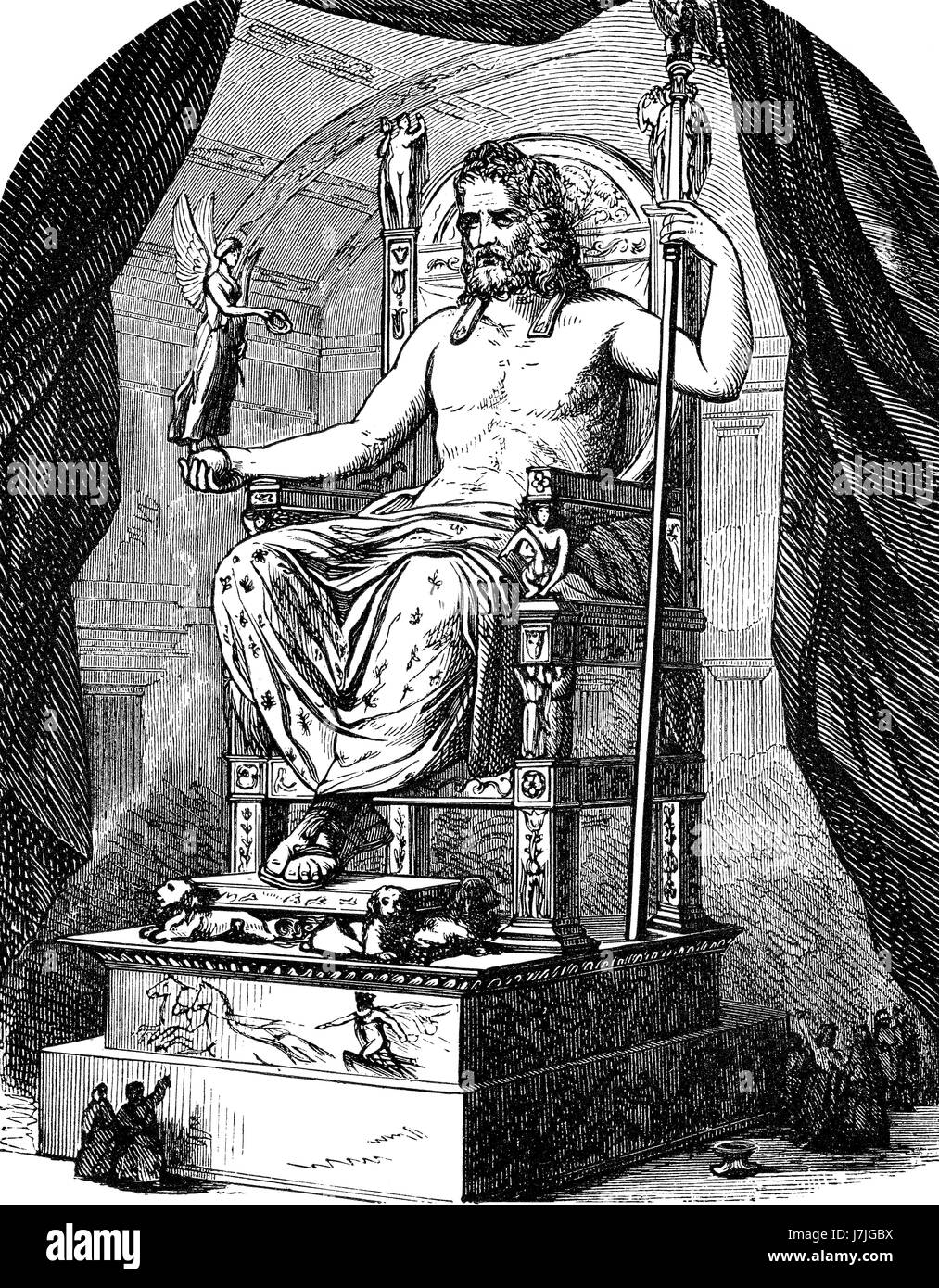 Zeus, king of the gods, ancient Greek religion - Stock Image