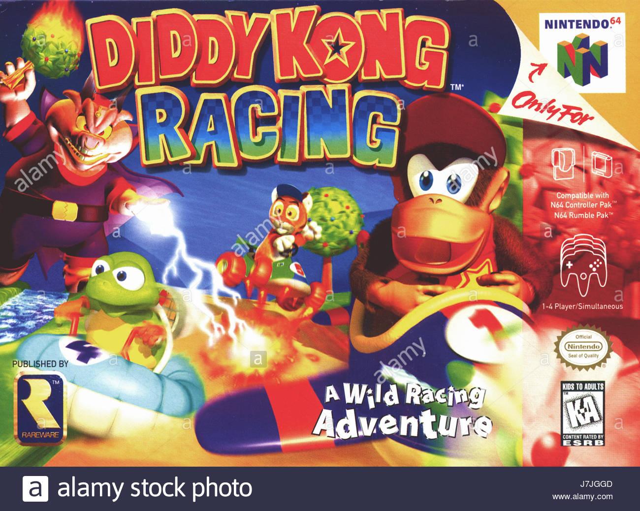 Diddy Kong Racing On N64 Original Game Box Art Photograph Stock