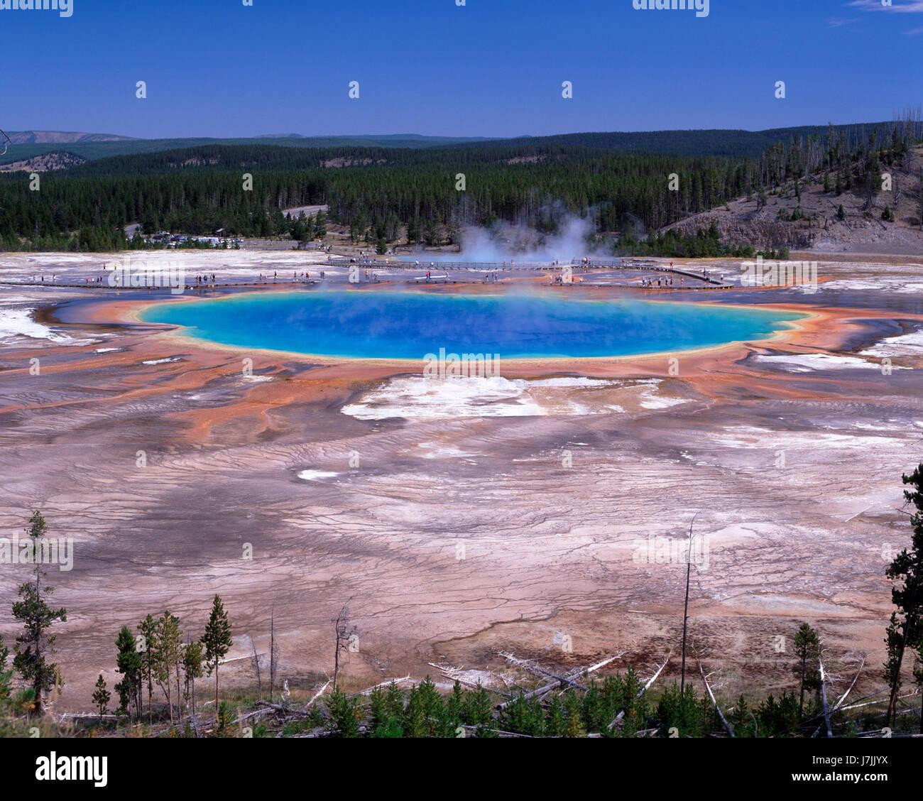 Grand Prismatic Pool, Yellowstone National Park, Wyoming, USA - Stock Image