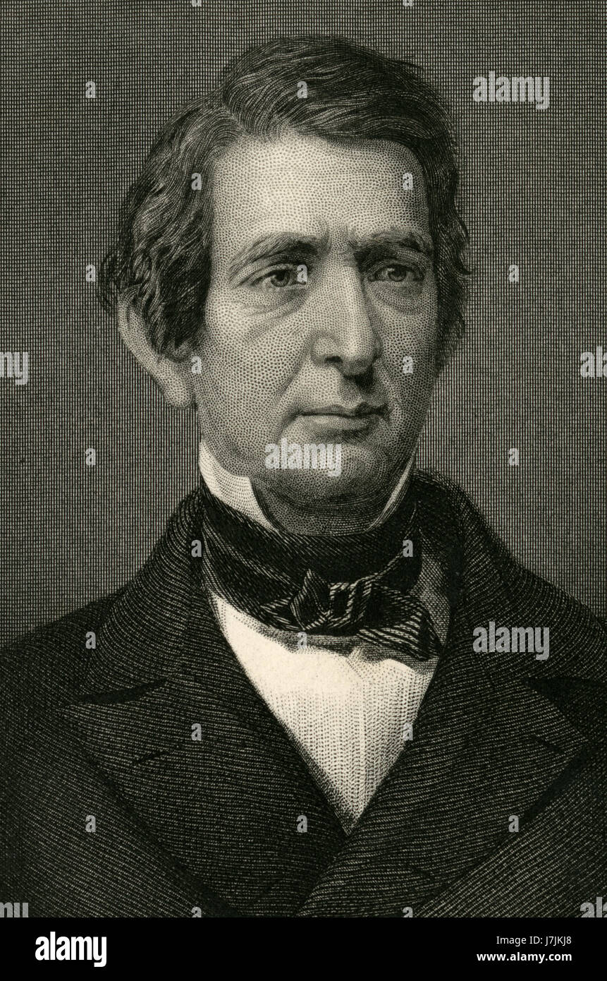 Antique c1860 engraving, William H. Seward. William Henry Seward (1801-1872) was United States Secretary of State - Stock Image