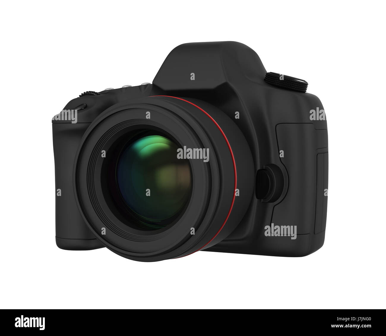 Digital SLR Camera Isolated - Stock Image