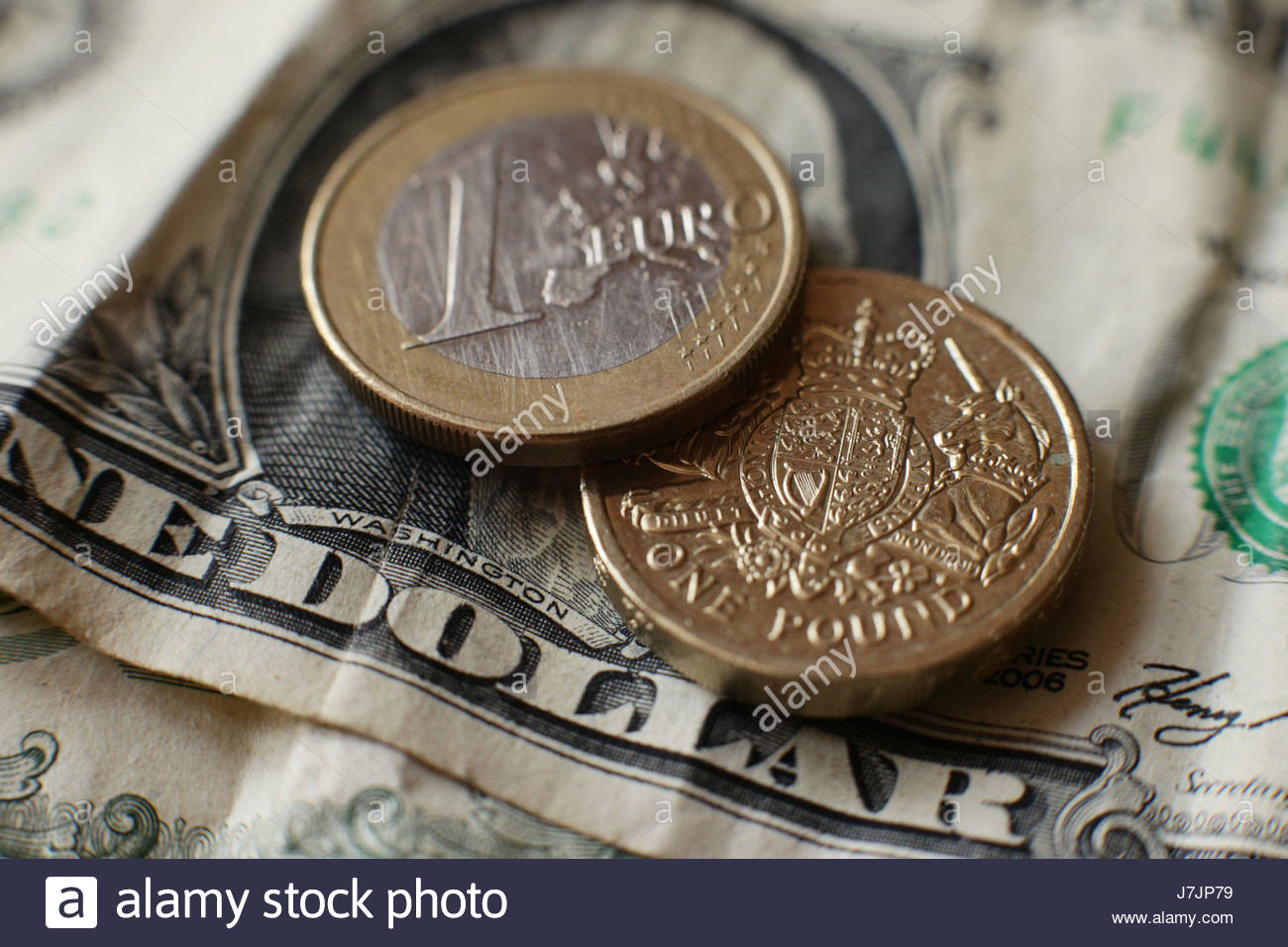 File Photo Dated 31 07 16 Of A British One Pound Coin Euro And US Dollar Bill The Continued Its Slide Against On