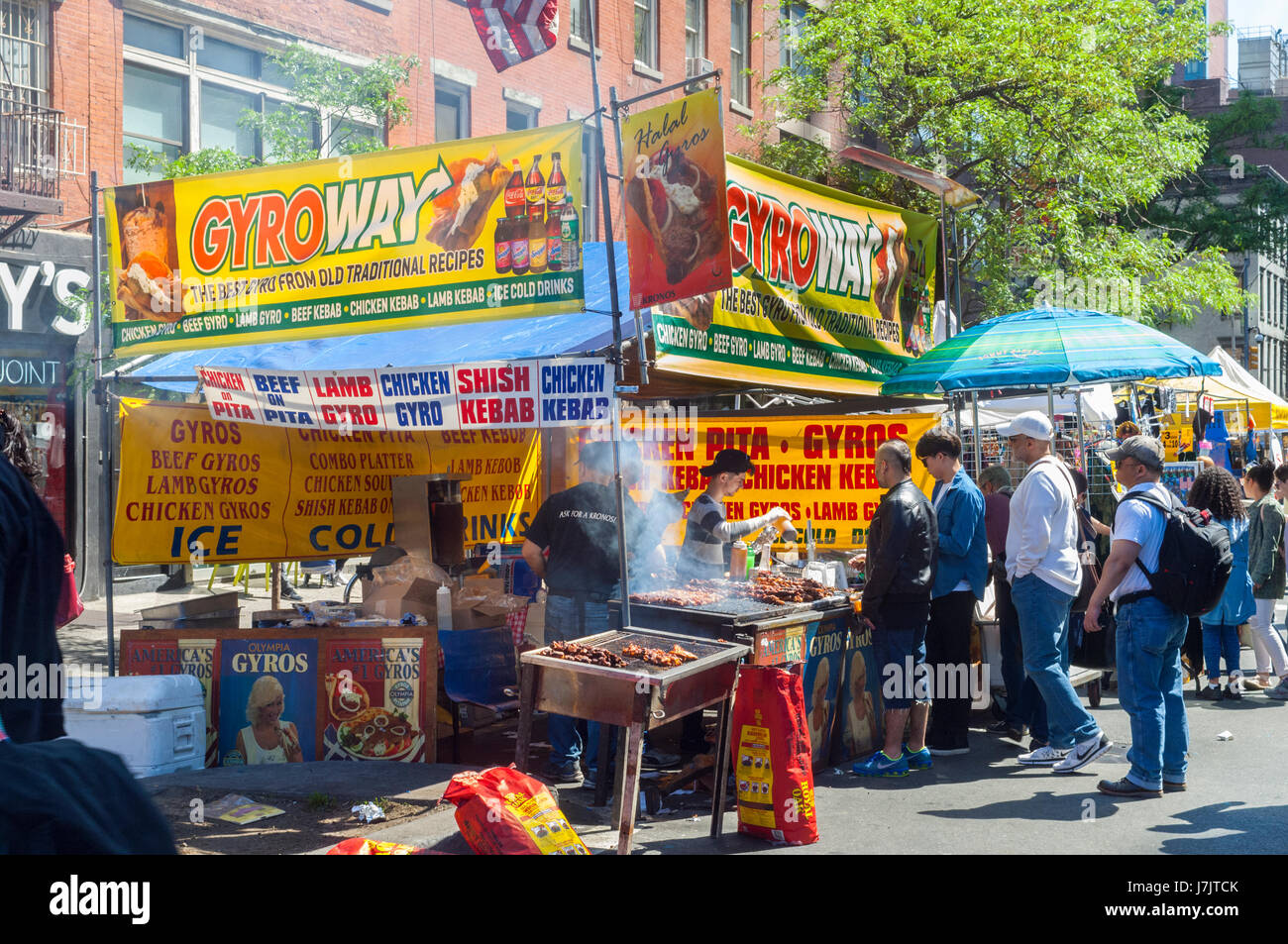 Crowds gorge themselves at the 44th Annual Ninth Avenue International Food Festival in New York on Sunday, May 21, - Stock Image