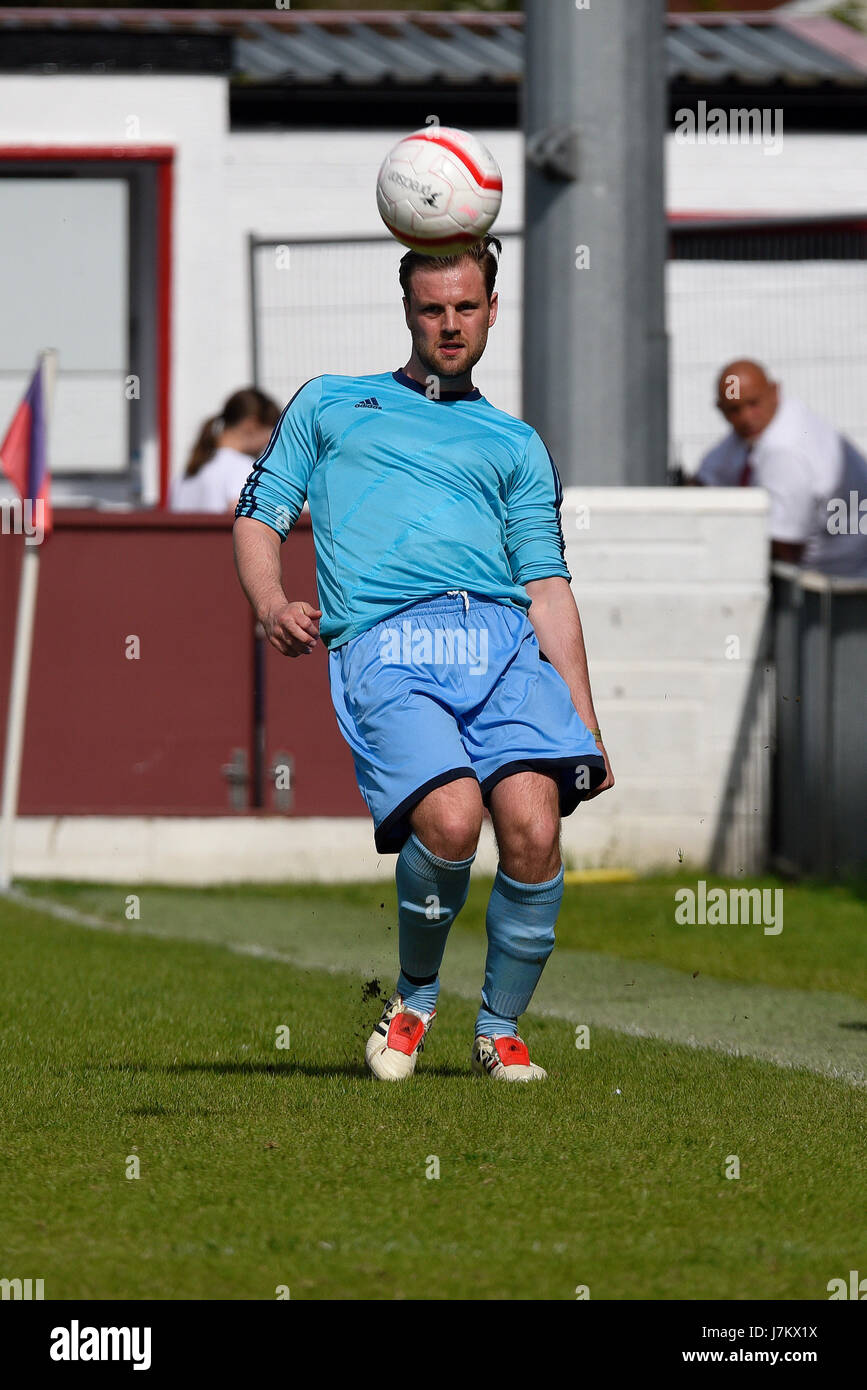 Chris Smith playing in a charity football match in Dagenham. Space for copy - Stock Image