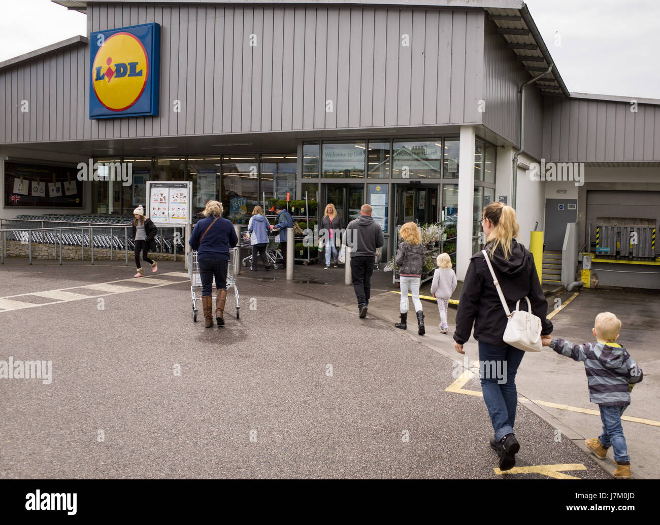 Lidl supermarket in the UK Stock Photo