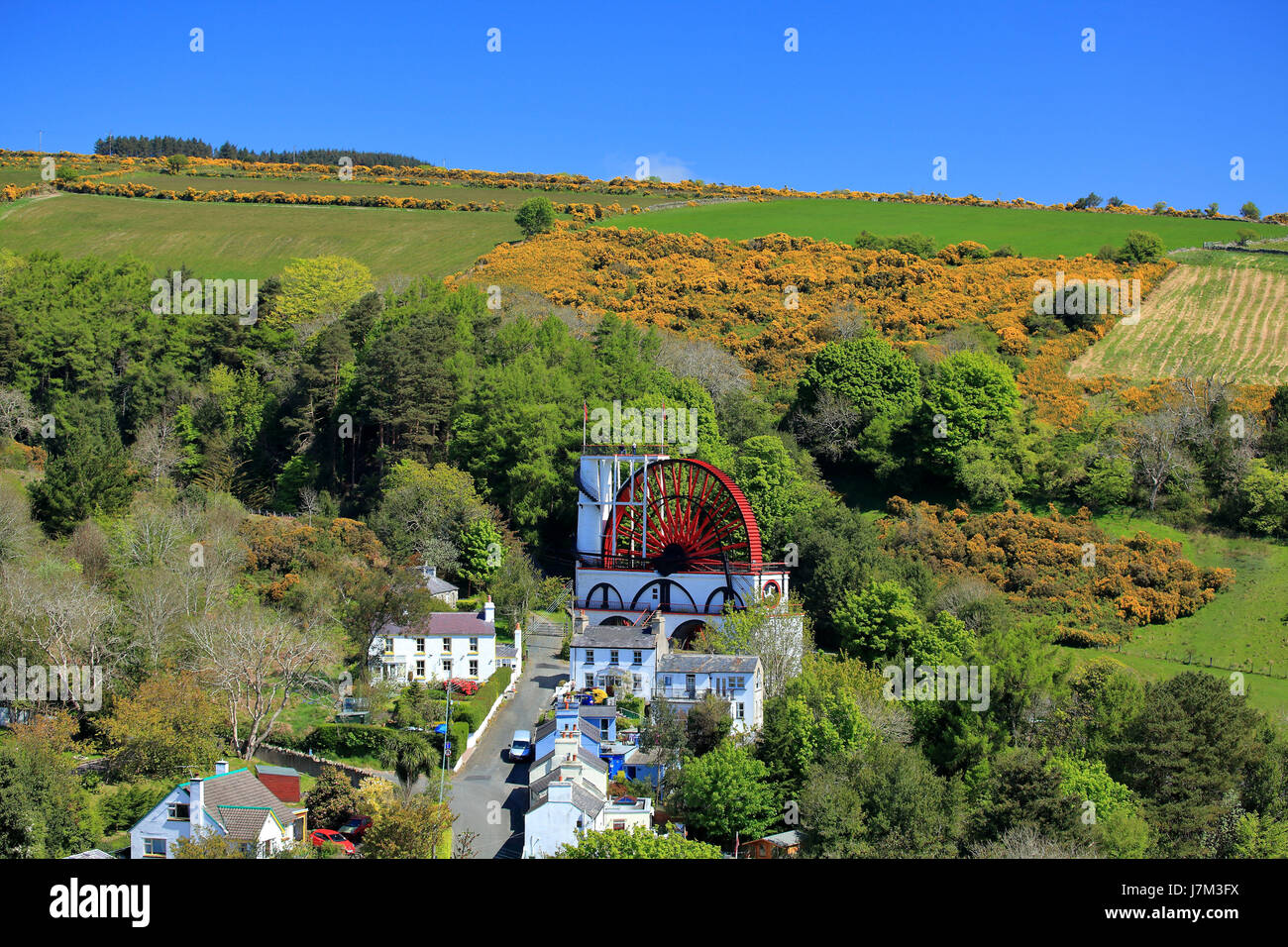 Great Laxey Wheel (Lady Isabella), Isle of Man Stock Photo
