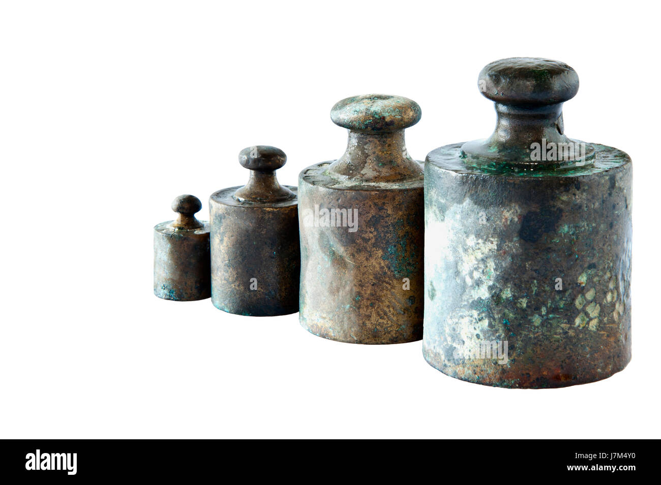 isolated load weigh weight kilogram gram old retail shop shop department store - Stock Image