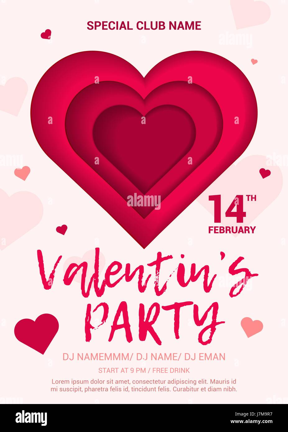 The Poster For A Party In Honor Of Valentine S Day Stock Vector Art