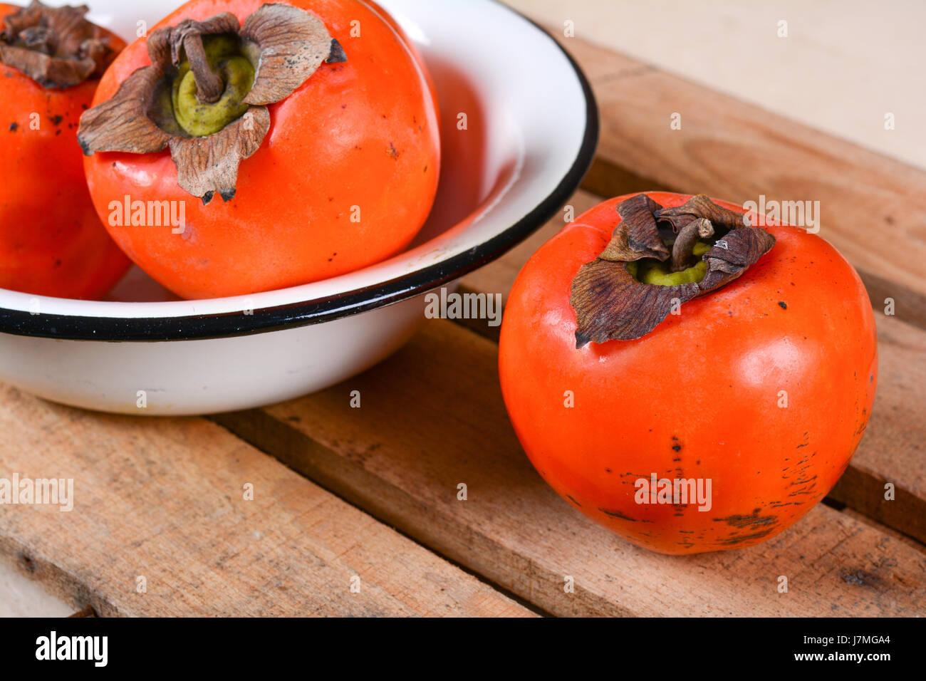 Persimmon fruit - Stock Image