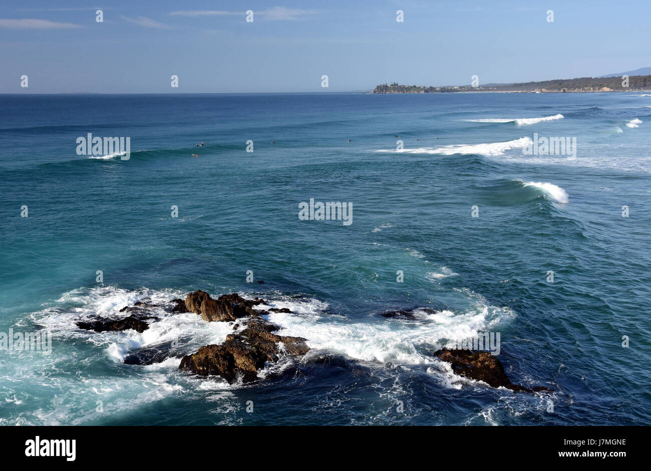 Beach at the Tuross Head. Tuross Head is a seaside village on the south coast of New South Wales Australia. Potato Stock Photo
