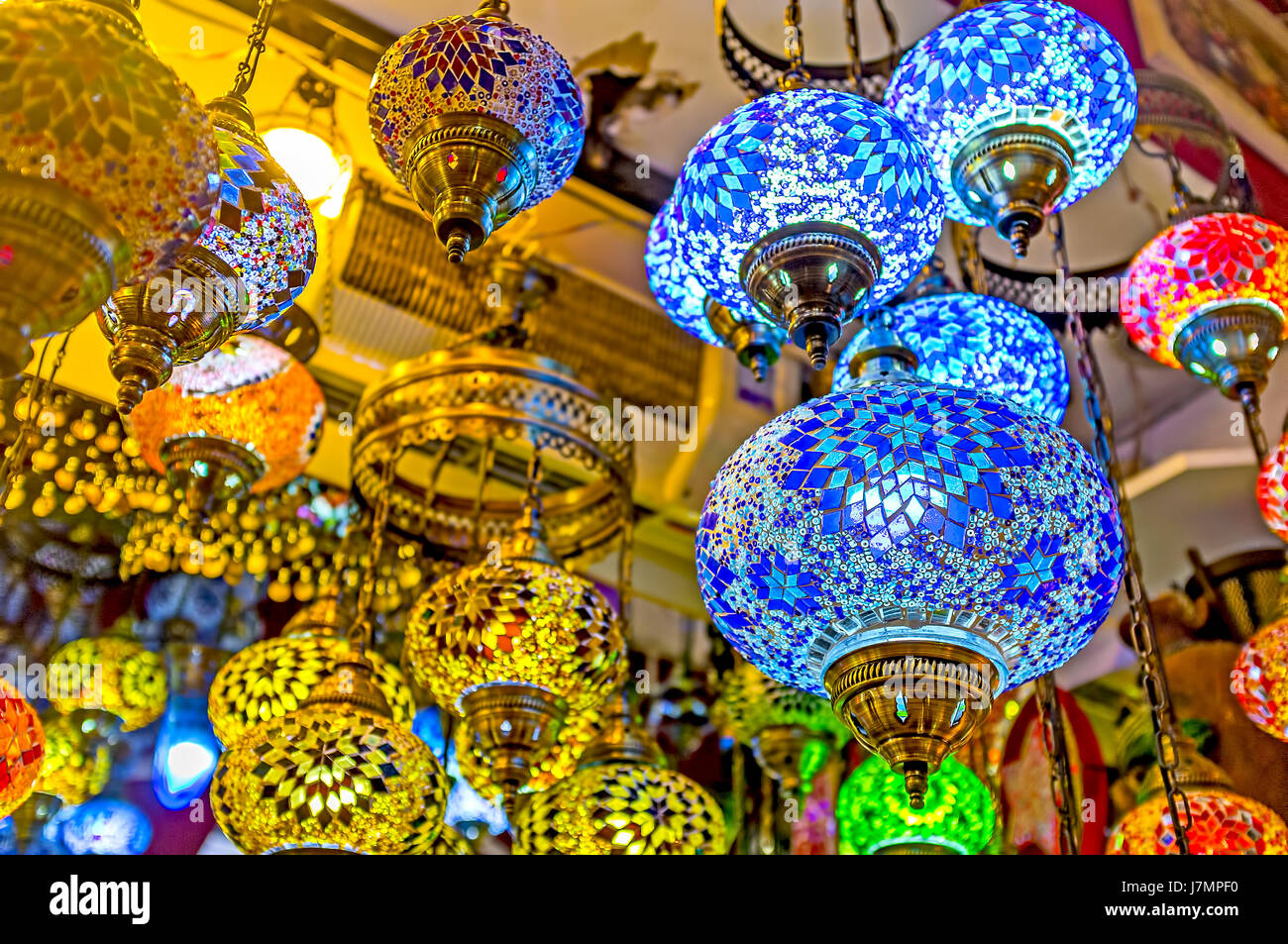 Kemer turkey may 5 2017 the lighting stores of traditional arabian lights offer lamps and chandeliers for each taste and price on may 5 in kemer
