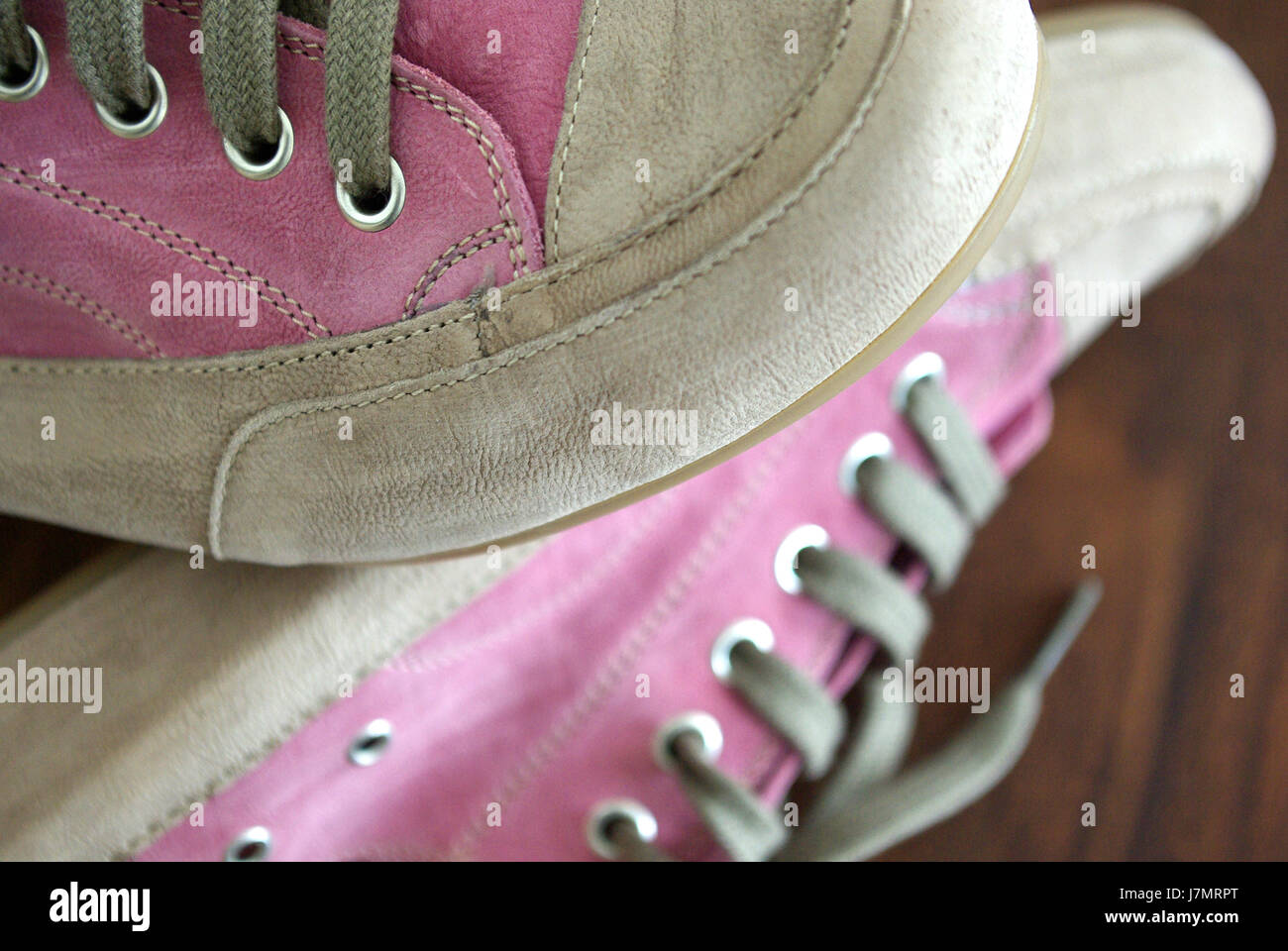 fashion pink fashion fashionable sporty athletic wiry pithy heavyset tight Stock Photo