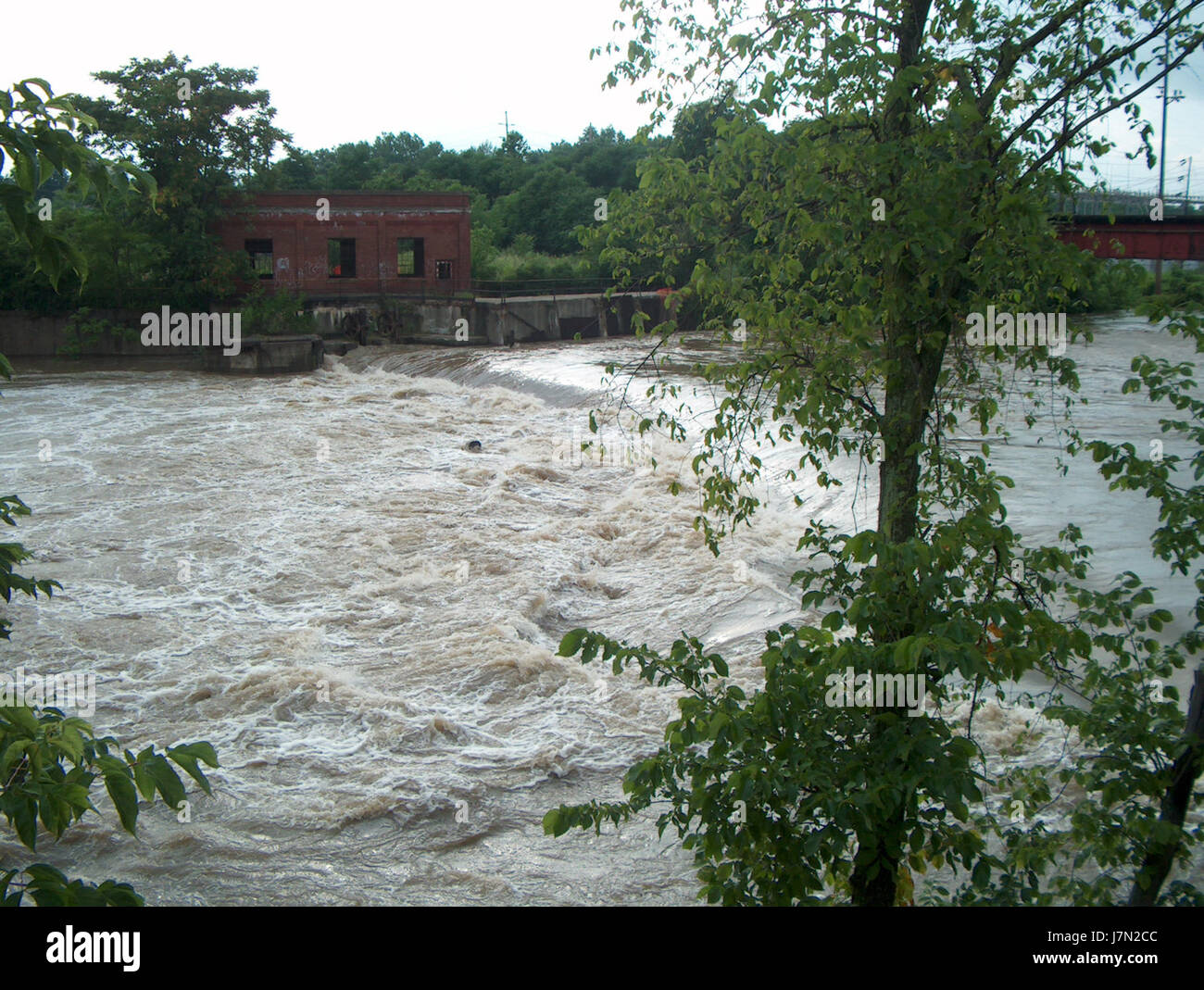 2003 Mahoning flood 6 - Stock Image