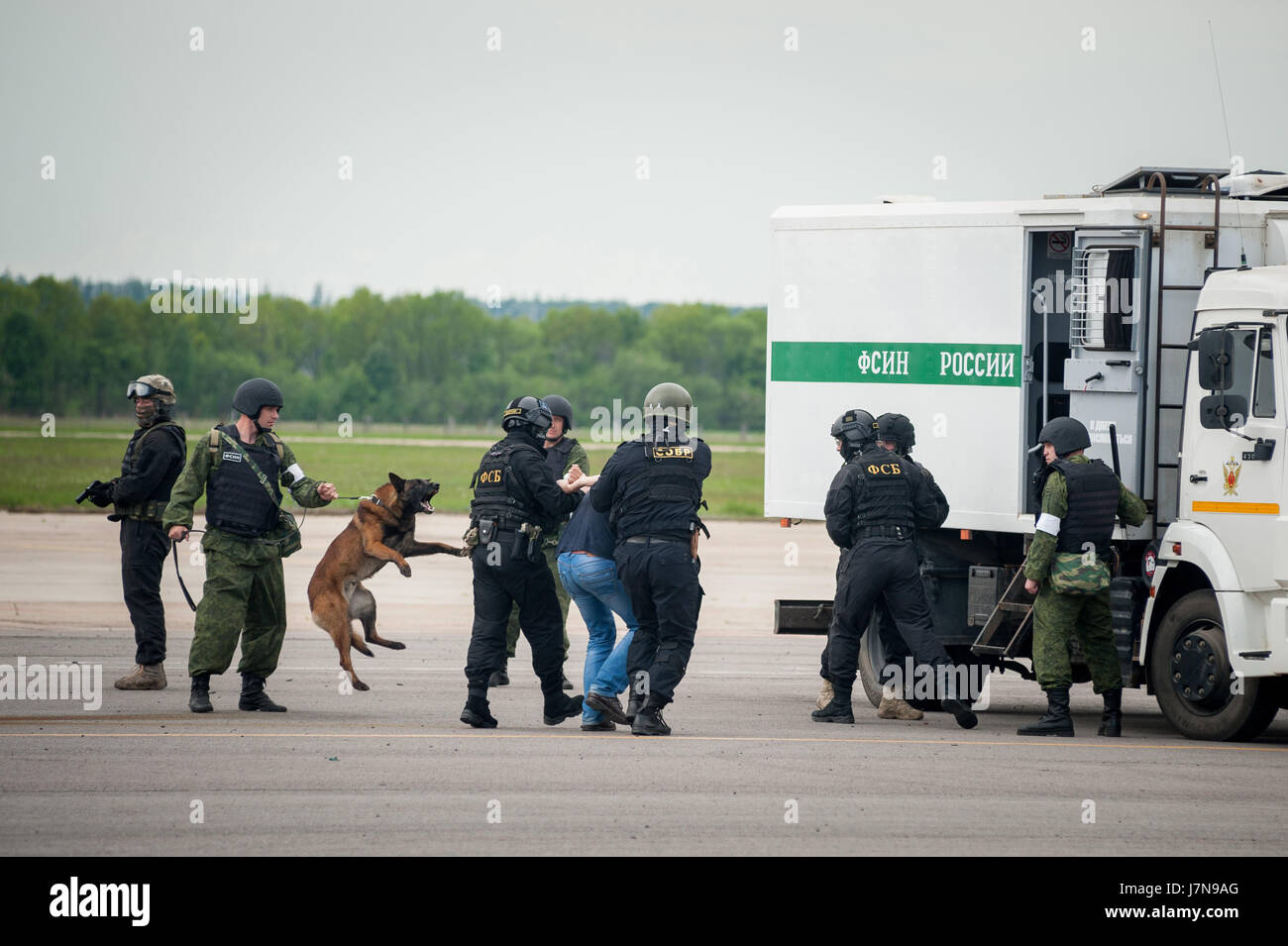 Tambov, Tambov region, Russia. 25th May, 2017. (pictured center), the special forces of the FSB of Russia and the - Stock Image