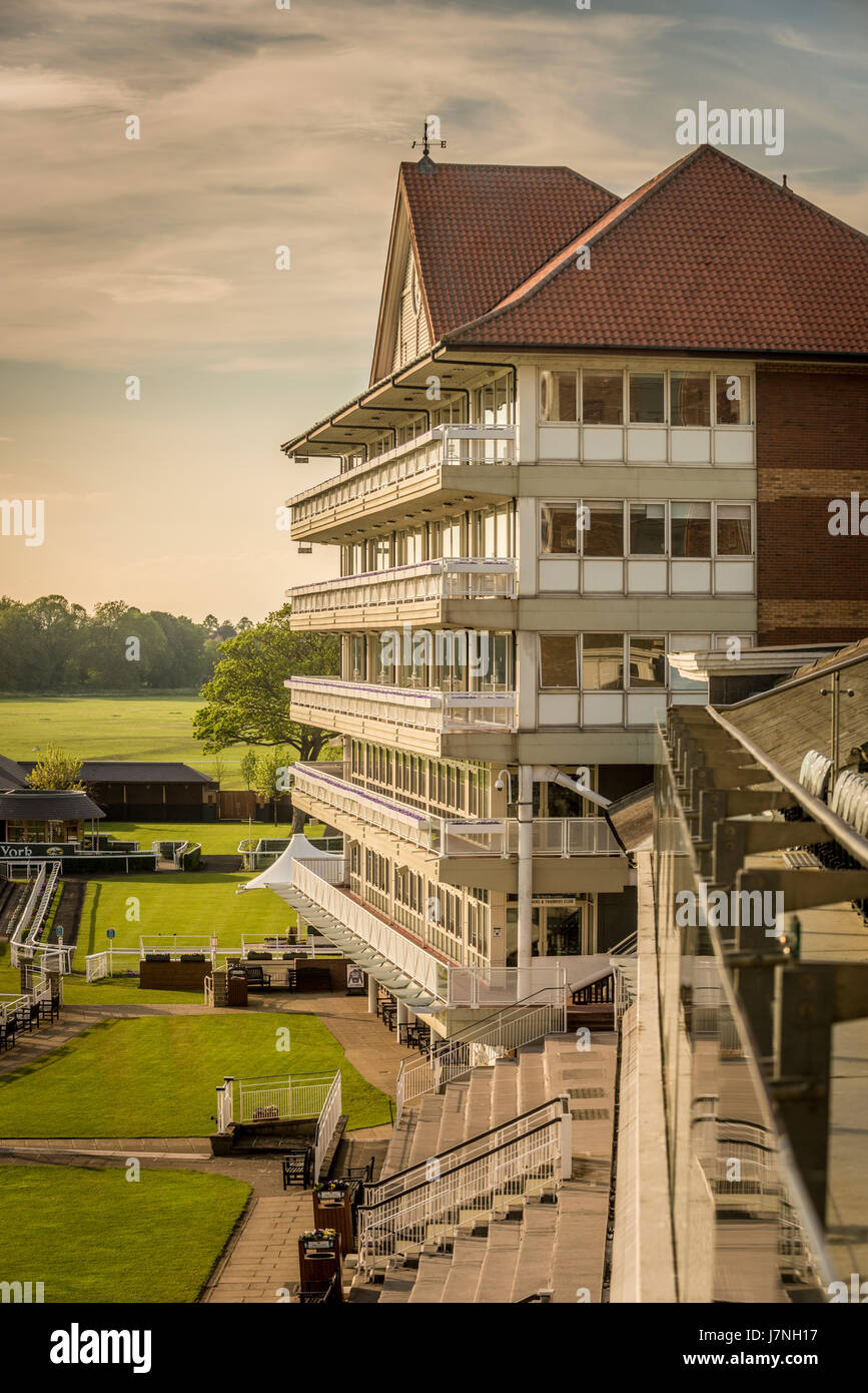 Melrose Stand at York Racecourse, York, UK - Stock Image